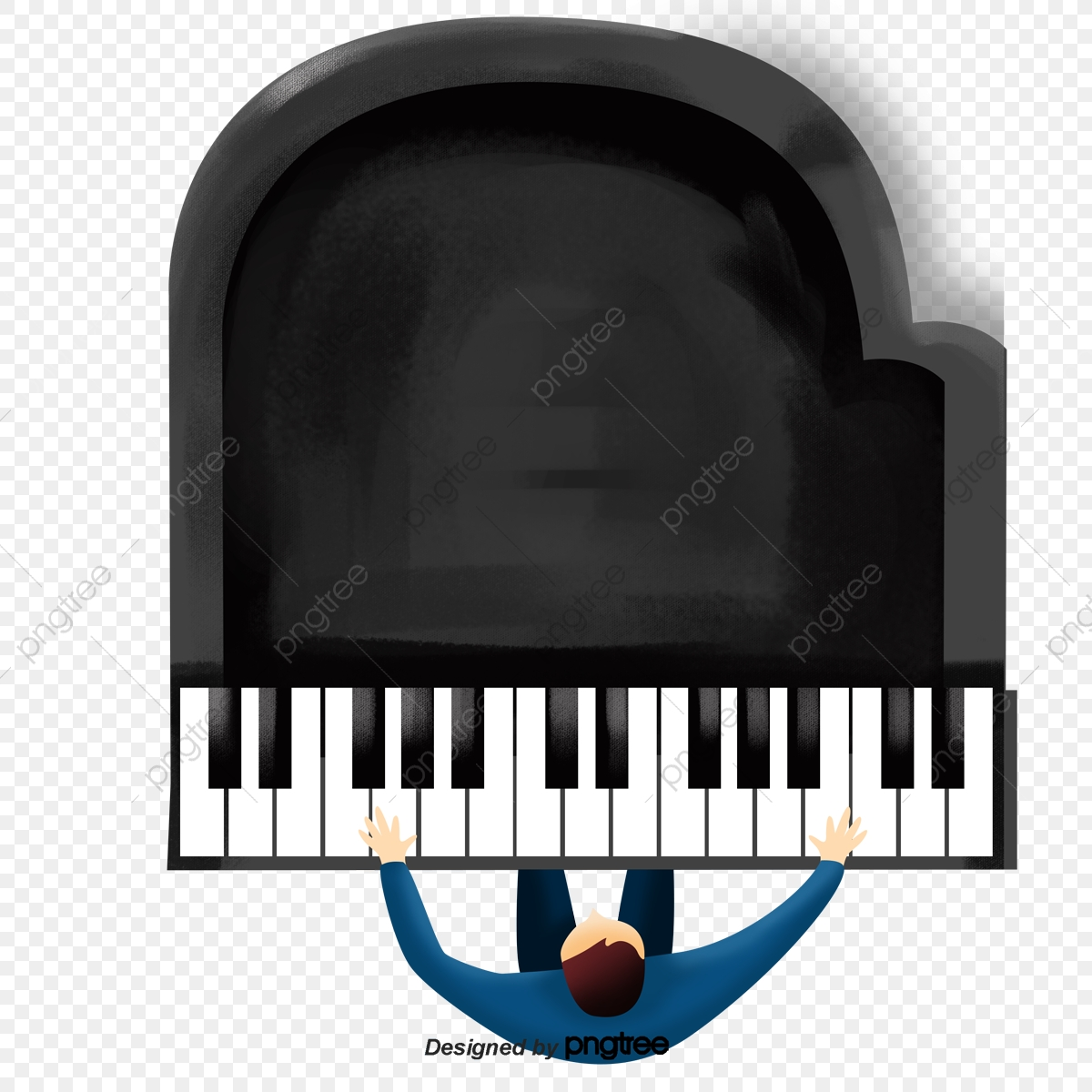 A Man Who Plays The Piano In Cartoon, Musical Instruments