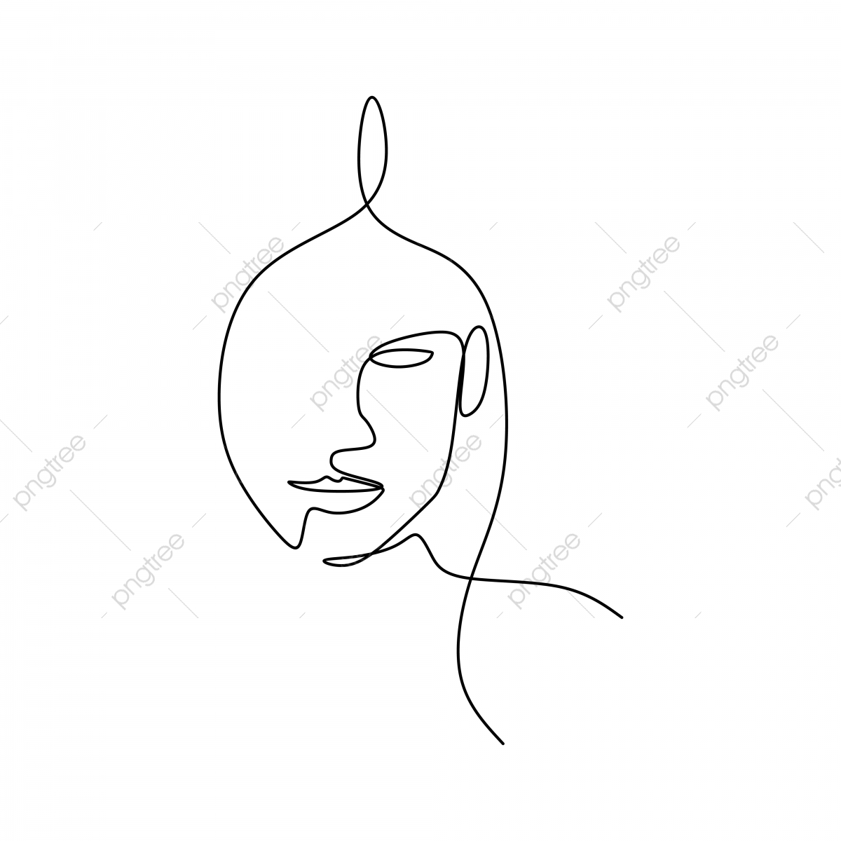 Commercial use resource. Upgrade to Premium plan and get license authorization.UpgradeNow · abstract face continuous one line drawing ...