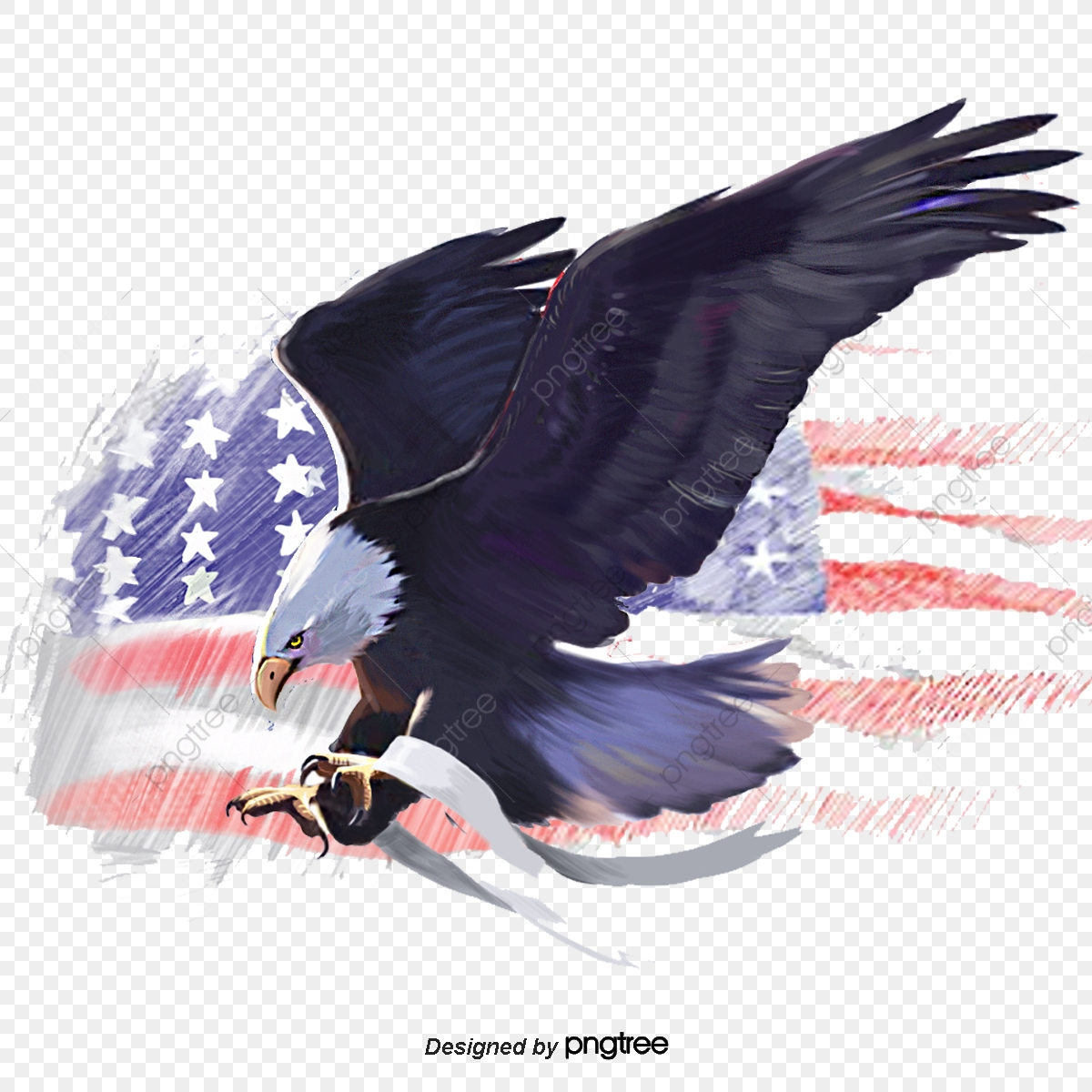 American Eagle American Flag Eagle White Headed Sea Eagle Elements Animal Png Transparent Clipart Image And Psd File For Free Download
