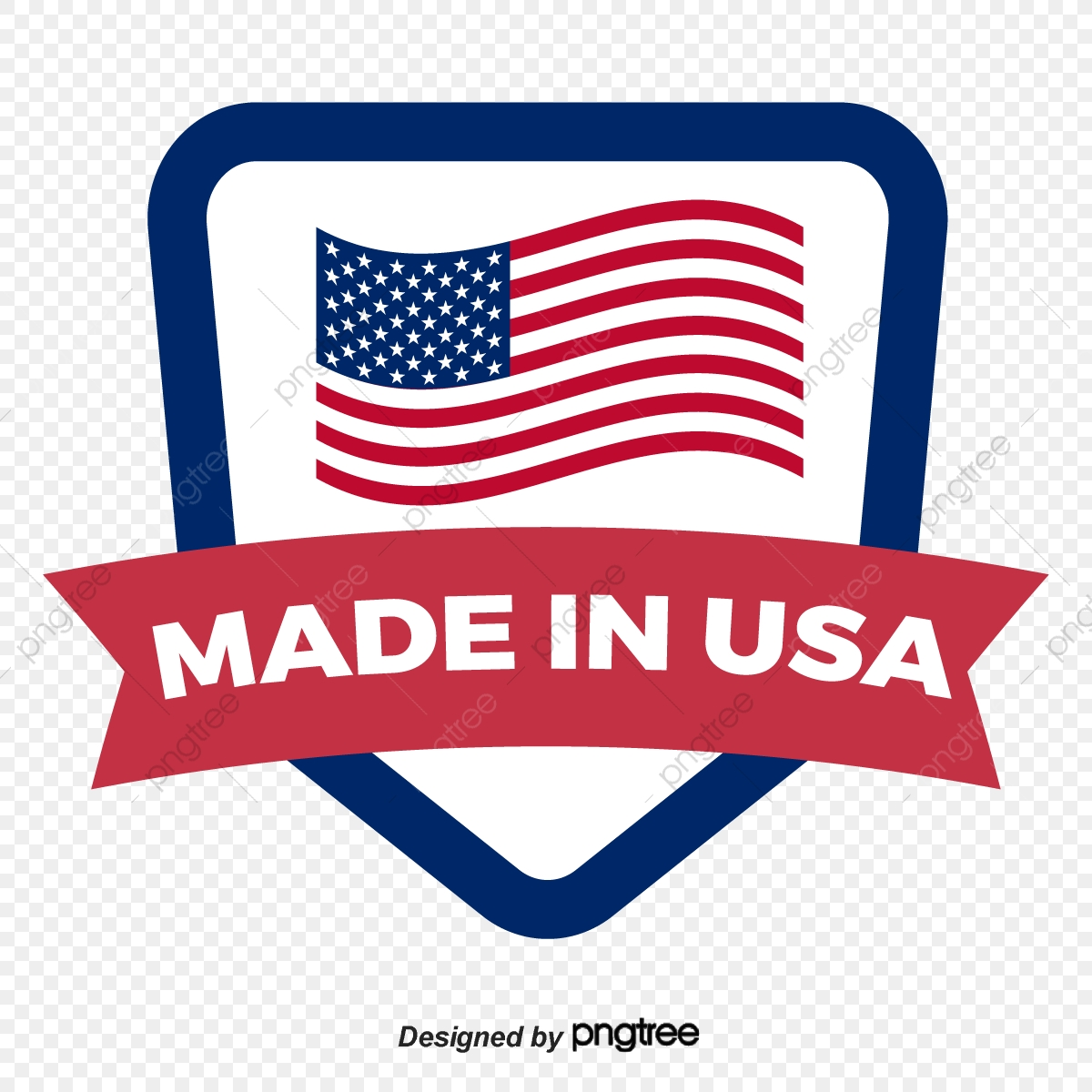 American Flag Flying Made In Usa Trademark Design Logo Made In