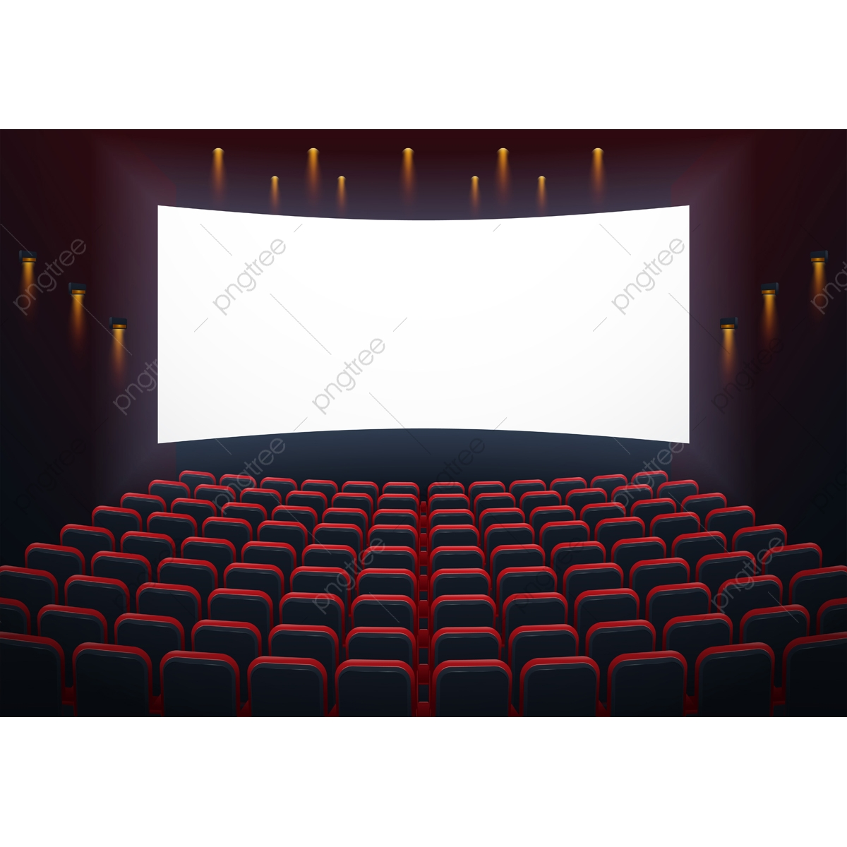 An Illustration Of The Interior Of A Cinema Movie Theatre With C Movie Cinema Theater Png And Vector With Transparent Background For Free Download