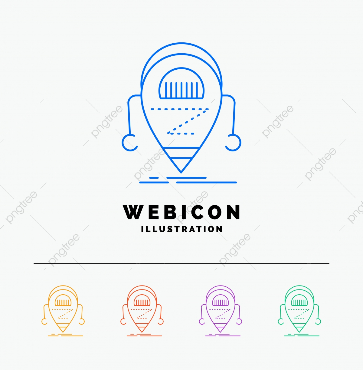 Android,beta,droid,robot,technology 5 Color Line Web Icon Te