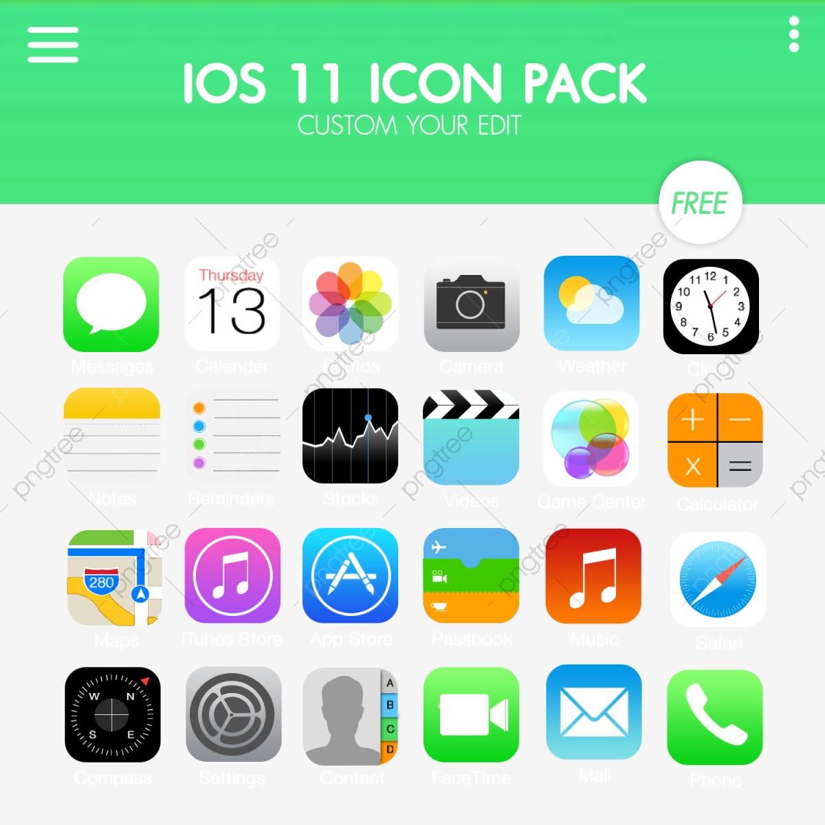 Apple Ios11 Icon Pack, Ios, Ios11, Apple PNG Transparent