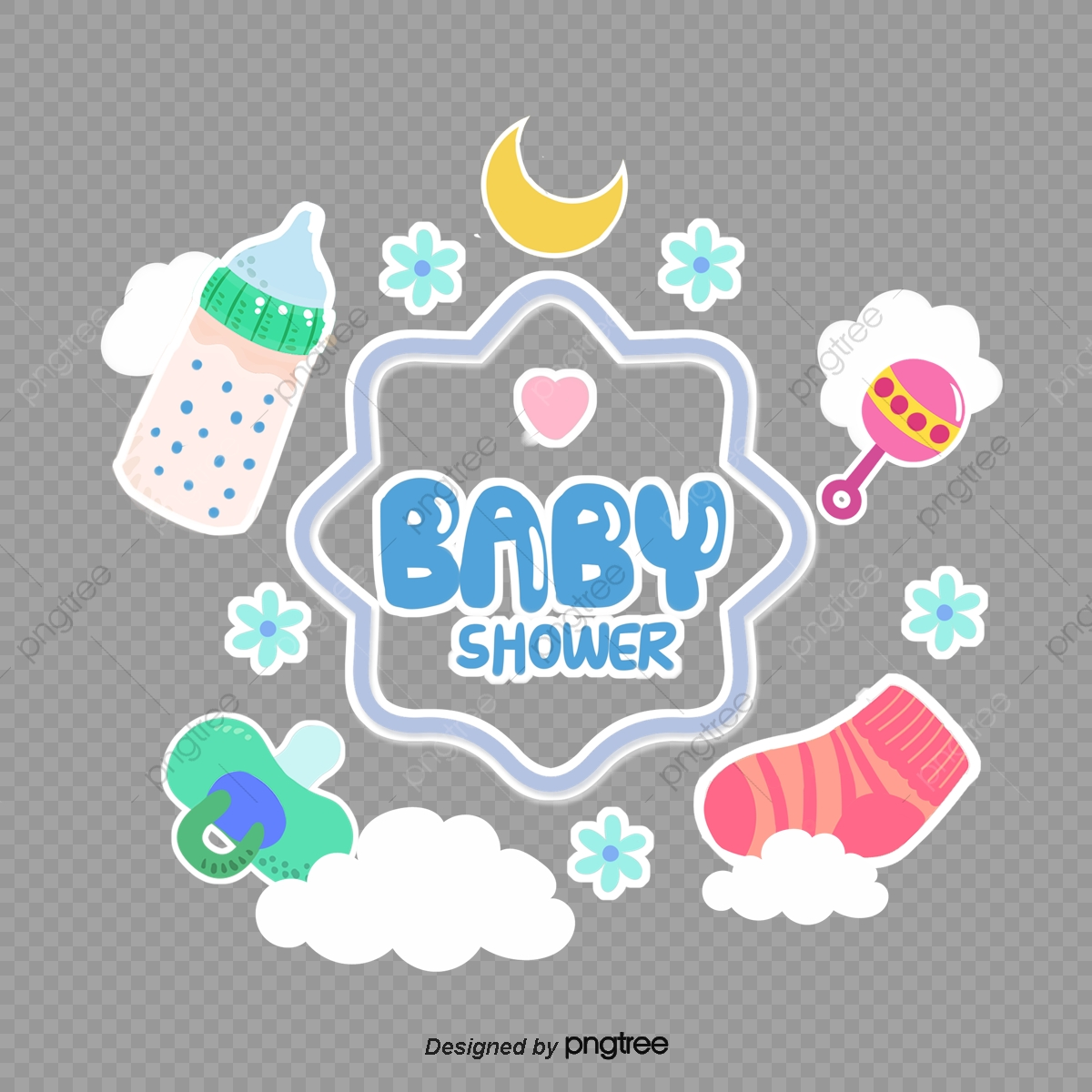 Baby Shower Decorative Border Baby Baby Shower Cartoon Png Transparent Clipart Image And Psd File For Free Download