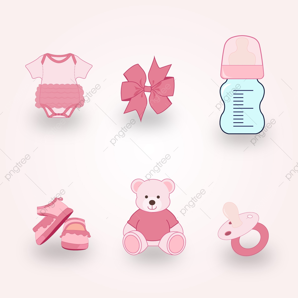 Baby Shower Items Vector Baby Shower Collection Png And Vector With Transparent Background For Free Download
