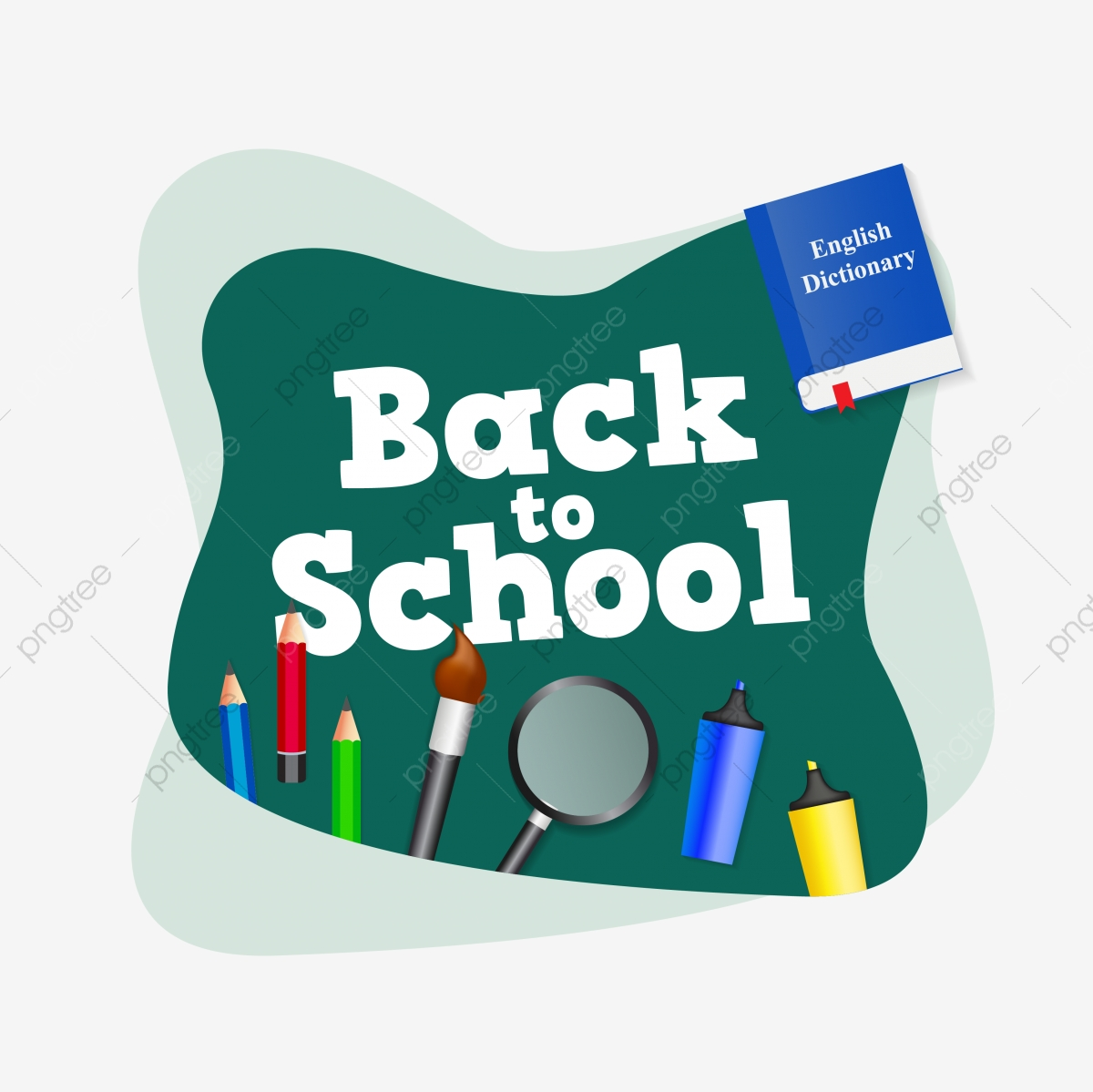 Back To School Poster Or Banner Design Back To School Blackboard Education Png And Vector With Transparent Background For Free Download