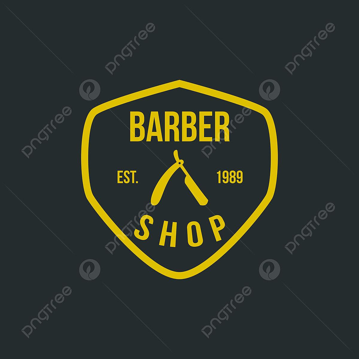 Barber Shop Vintage Logo Element Hair Cut Badge
