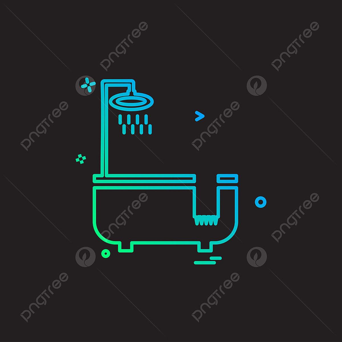 Vasca Da Bagno Disegno Icone Vettore Vasca Da Bagno Design