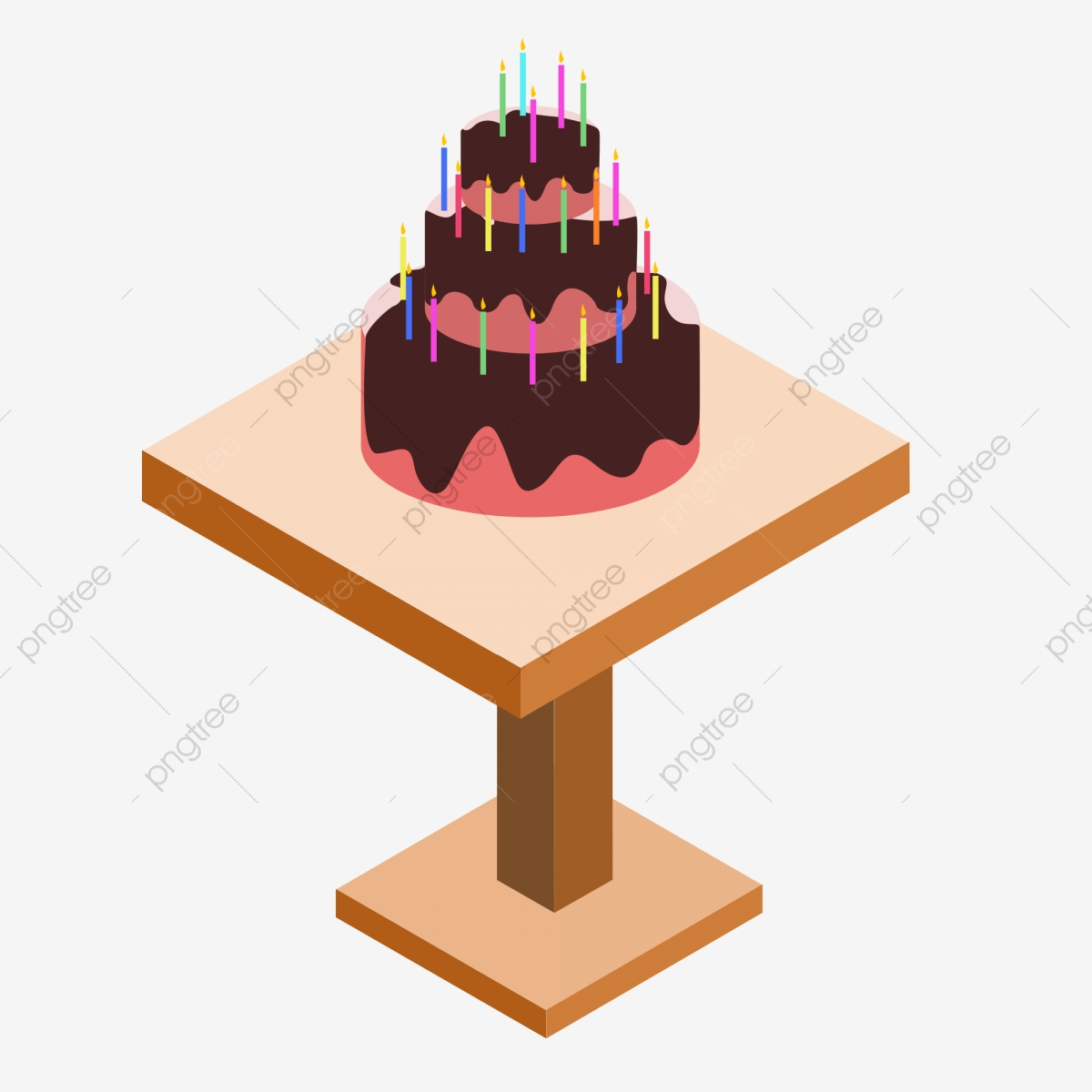 Terrific Birthday Cake Candle Element On 2 5D Wooden Table Birthday Cake Funny Birthday Cards Online Necthendildamsfinfo