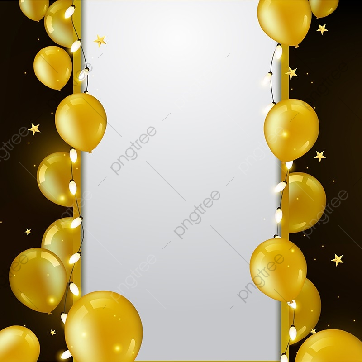 Aniversário Balão De Fundo Dourado Balão De Fundo