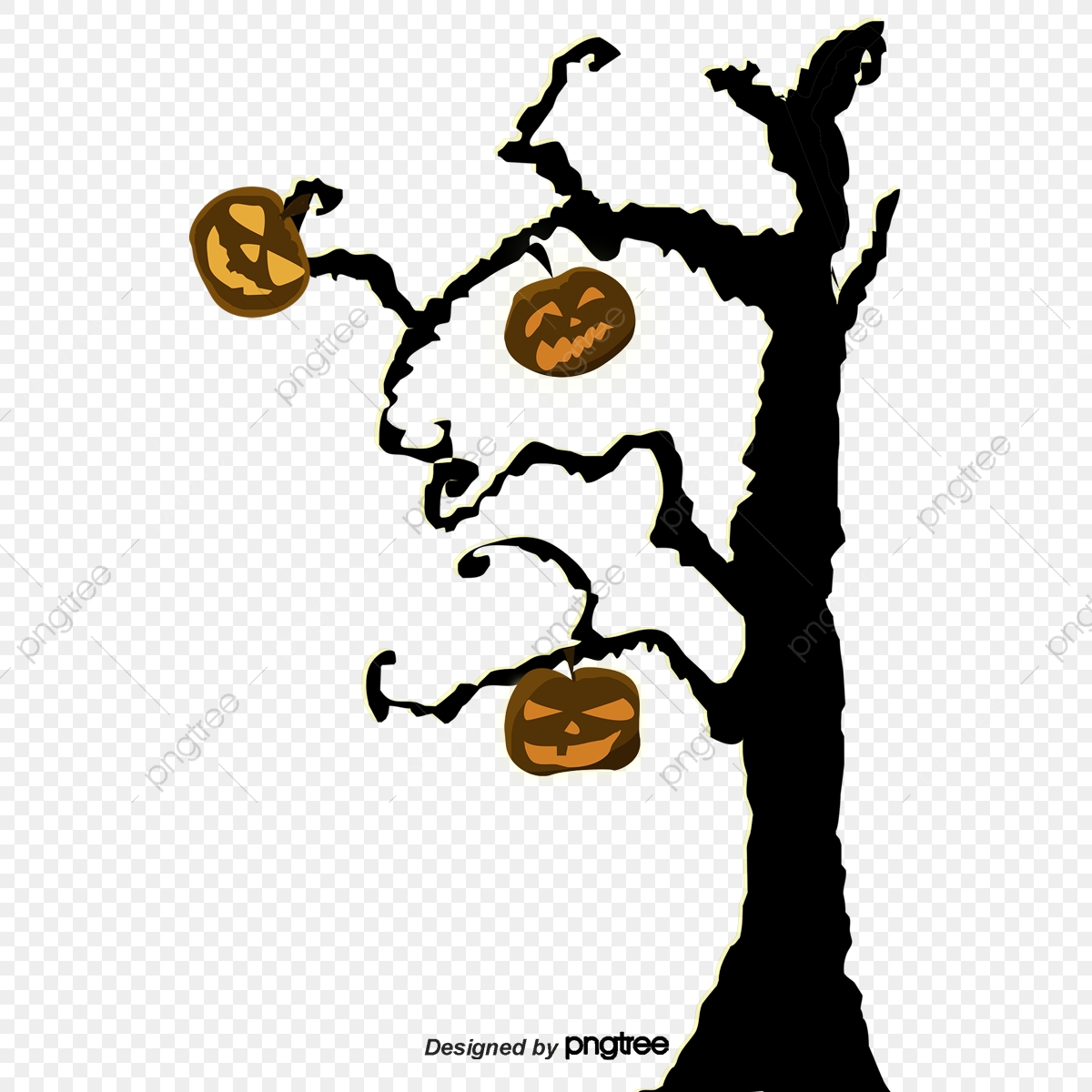 Halloween Tree Png Vector Psd And Clipart With Transparent Background For Free Download Pngtree