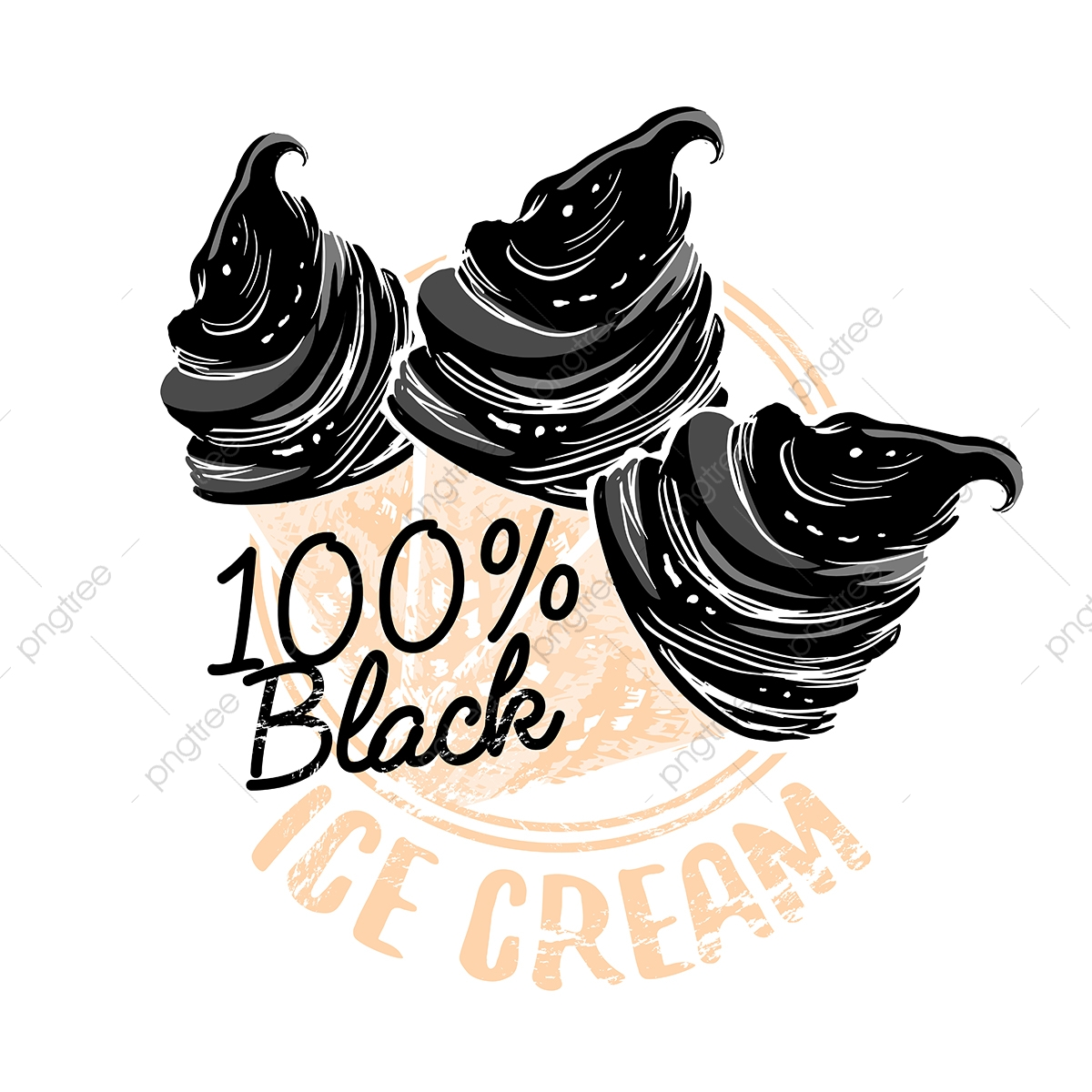 black ice cream grunge textured shop stump for poster design ice cream black stamp png and vector with transparent background for free download https pngtree com freepng black ice cream grunge textured shop stump for poster design 3605176 html