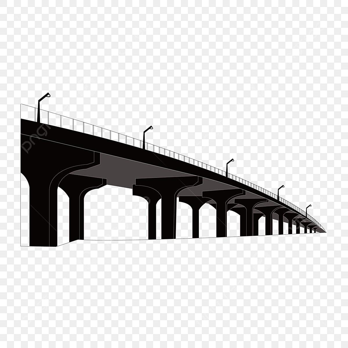 Bridge Silhouette Bridge Bridge Silhouette, Building