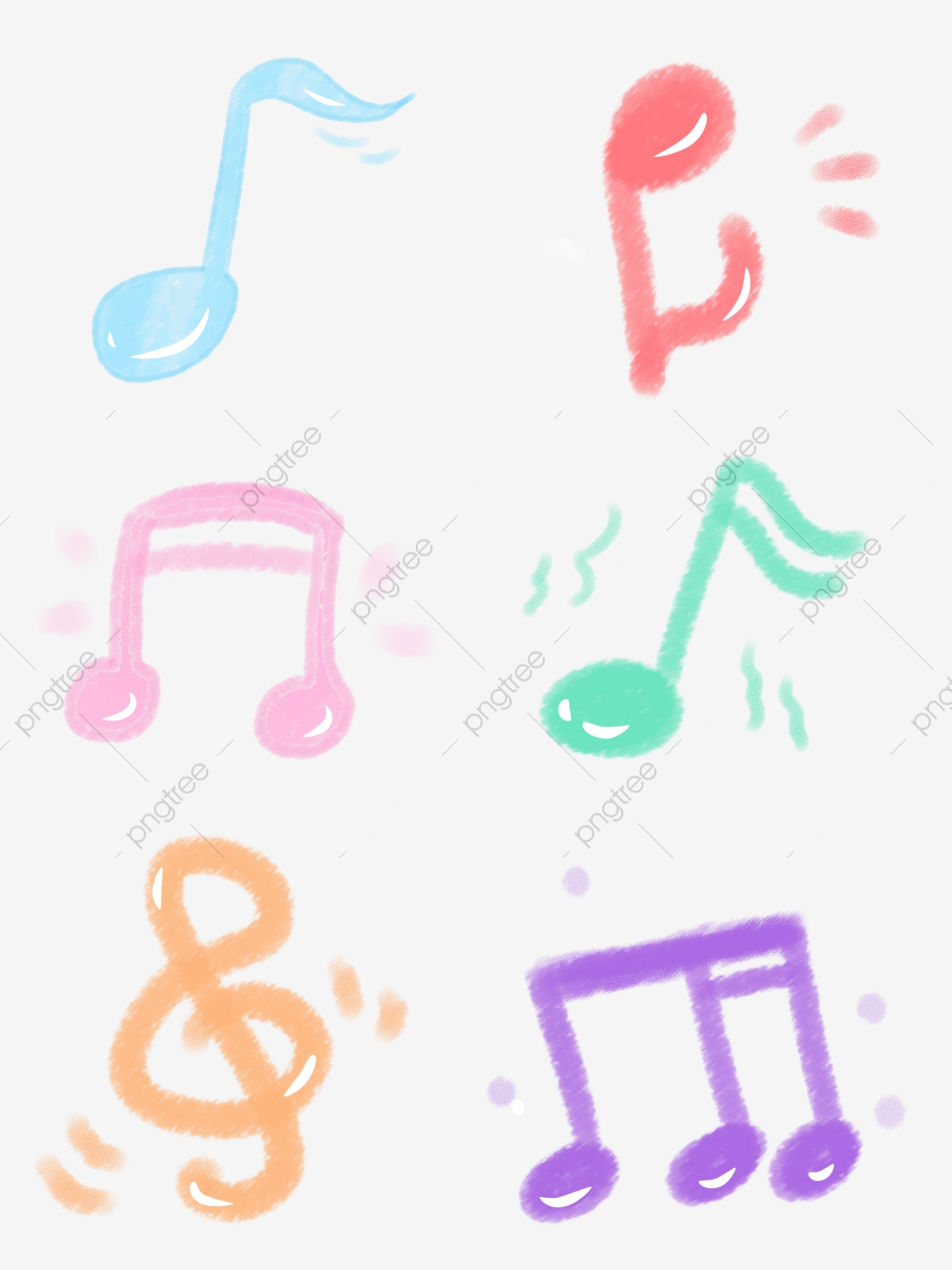 Business Hand Account Cute Cartoon Stick Music Festival Colorful