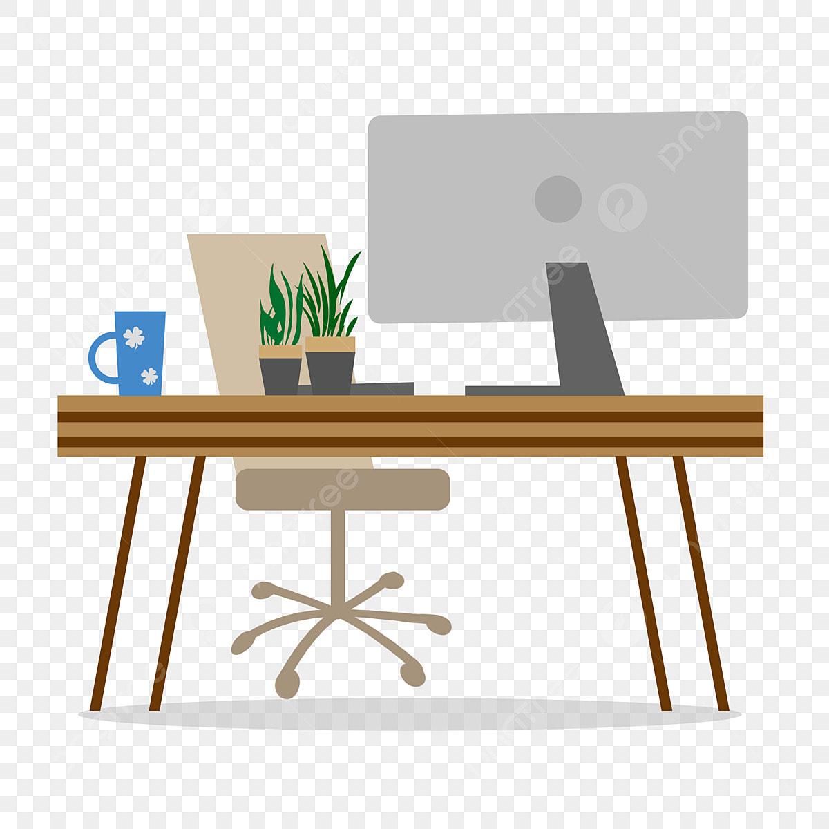 Business Office Minimalist Desk Element, Business Office ...