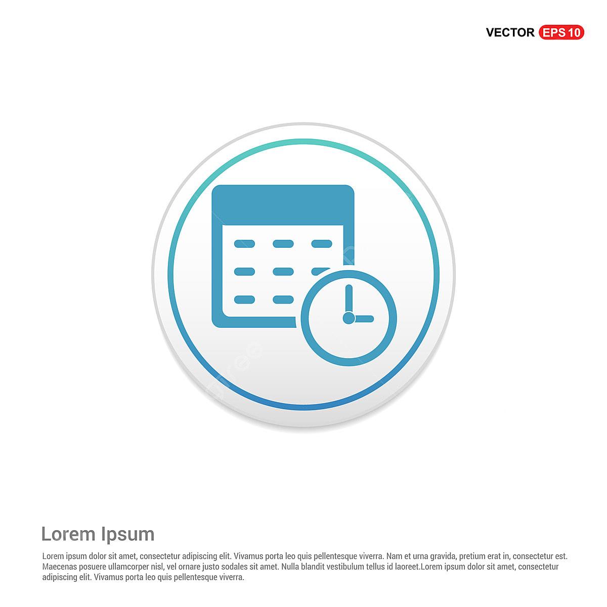 Calendario Vector Blanco.Icono De Calendario Circulo Blanco Boton Antecedentes