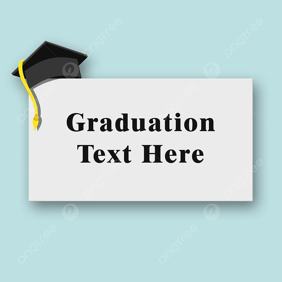 Tarjeta De Graduacion En Junta Con Sombrero De Plantilla