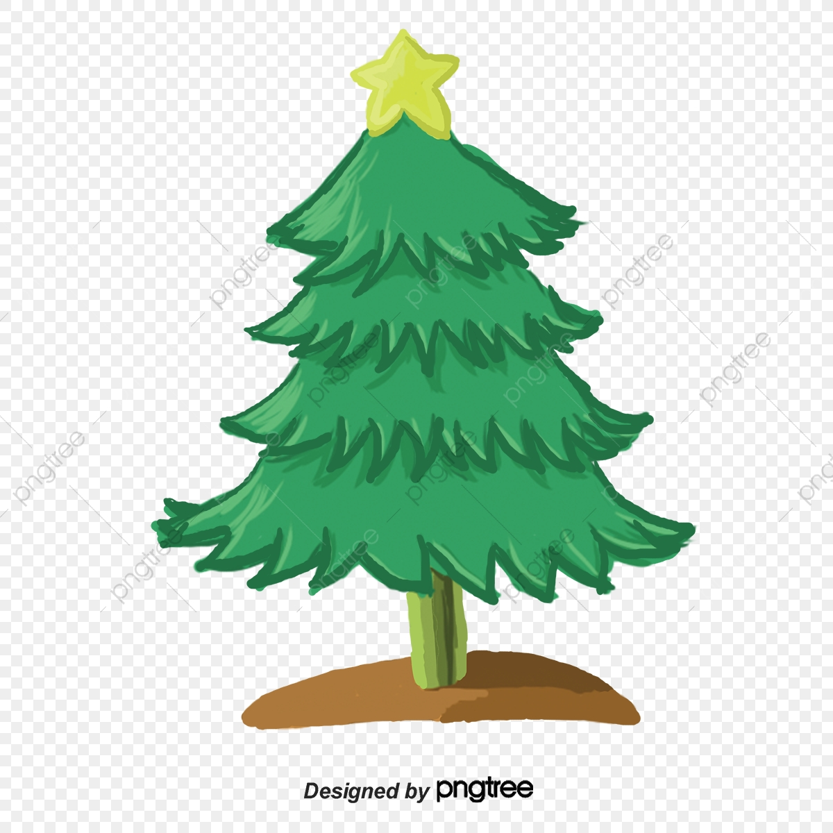Cartoon Beautiful Christmas Tree Vector Material Cartoon Vector