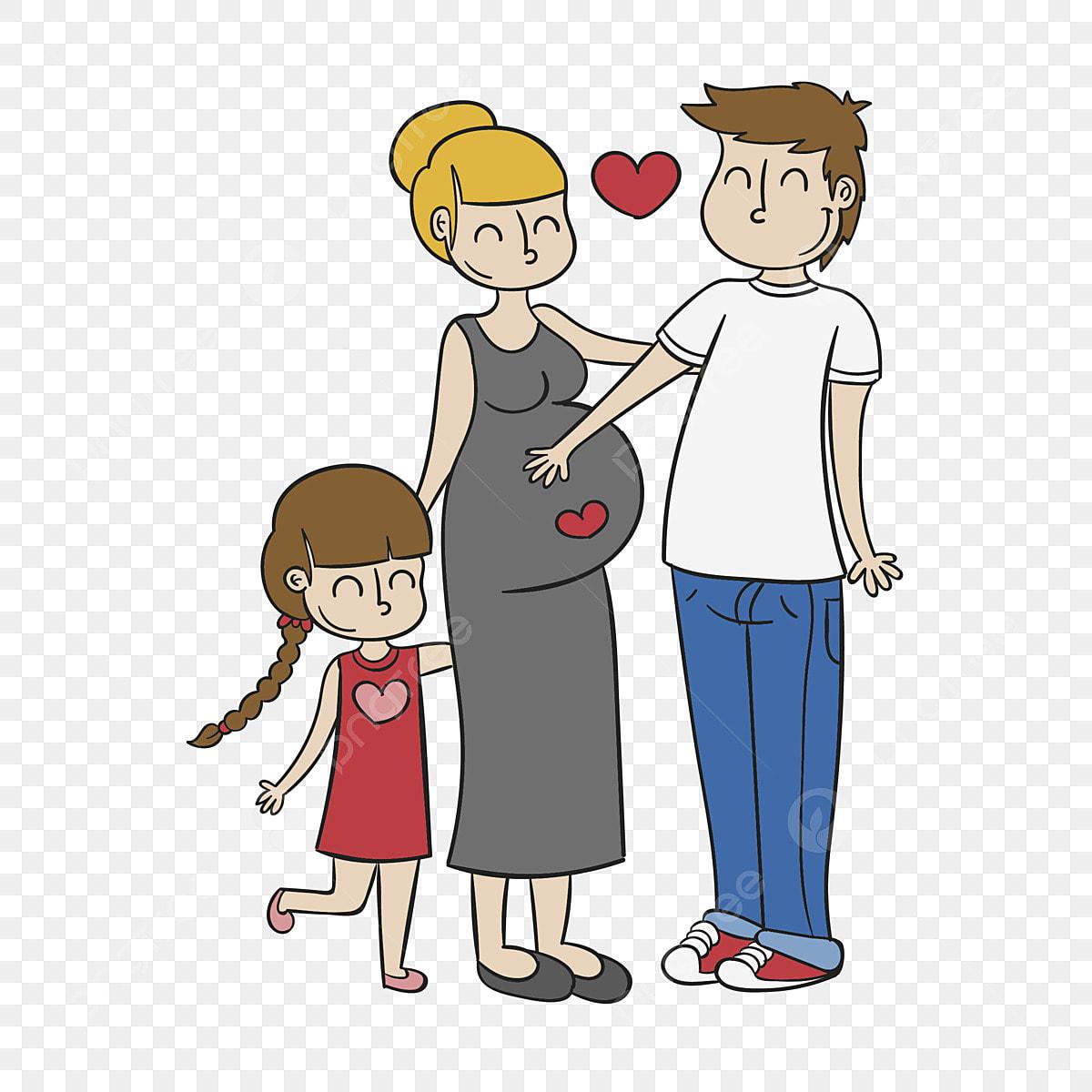 Gambar Kartun Ayah Kartun Kanak Ibu Keluarga Yang Saling Mencintai Keluarga Kartun Comel Png Dan Vektor Untuk Muat Turun Percuma