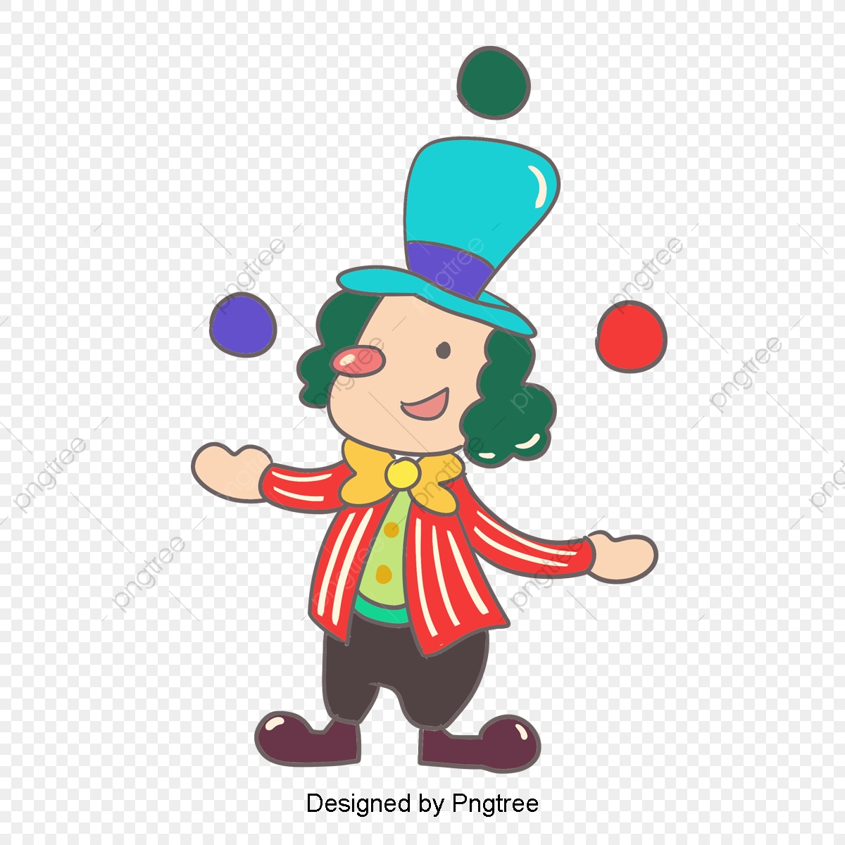 Classic Clown Vector Amazing Public Circus Show Man Juggling Balls Flat  Cartoon Illustration, Funny, Clown, Character PNG and Vector with  Transparent Background for Free Download