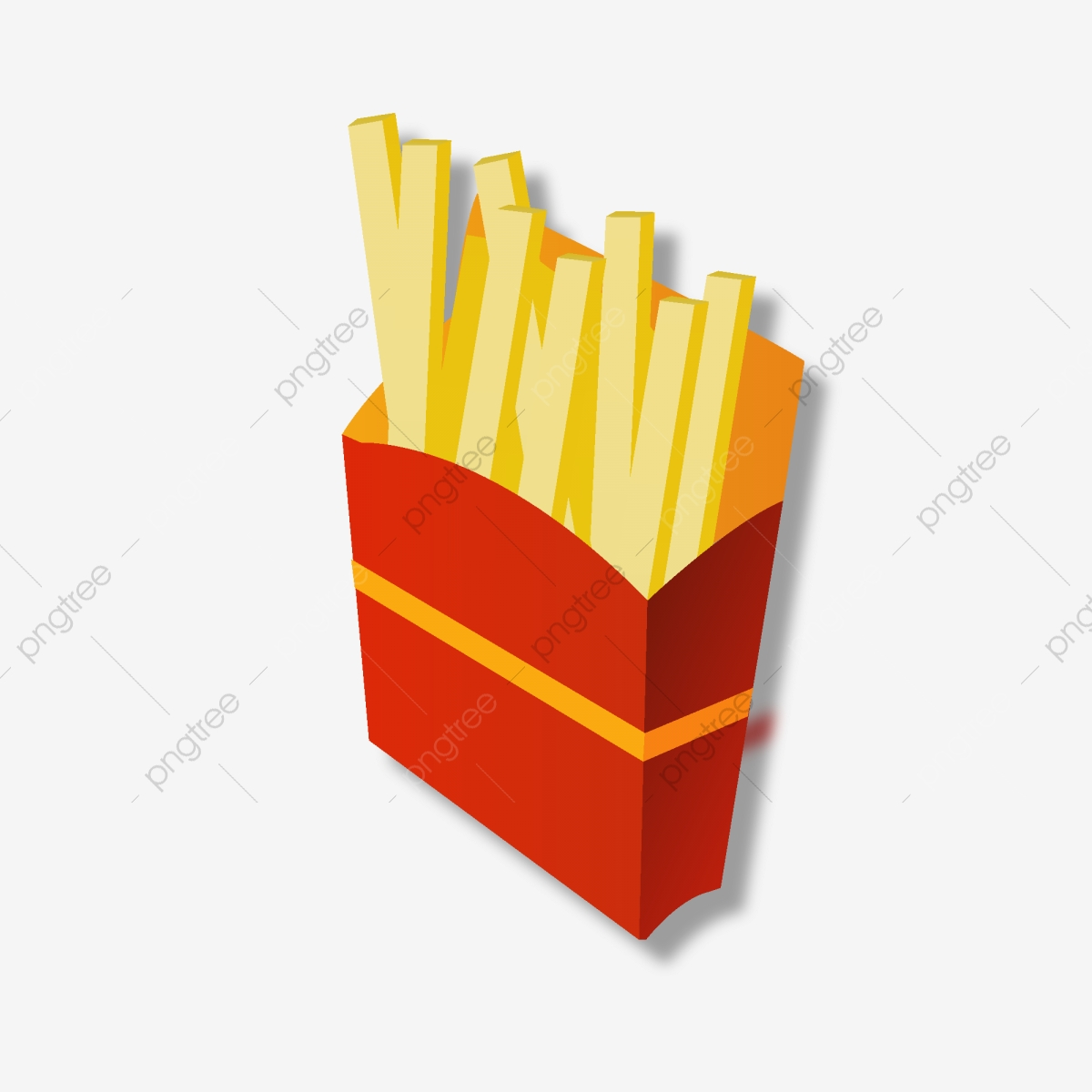 Desenhos Animados Deliciosos Elementos De Batata Frita Fast Food