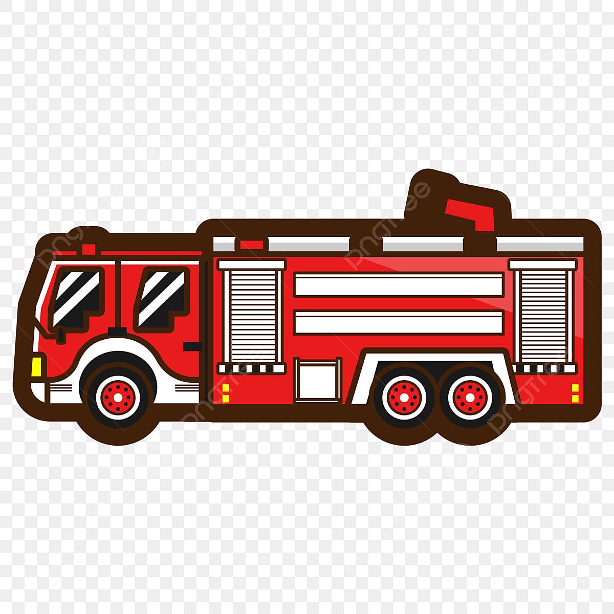 Gambar Elemen Bahan Truk Pemadam Kebakaran Kartun Ai Kartun Truk Pemadam Png Dan Vektor Dengan Latar Belakang Transparan Untuk Unduh Gratis