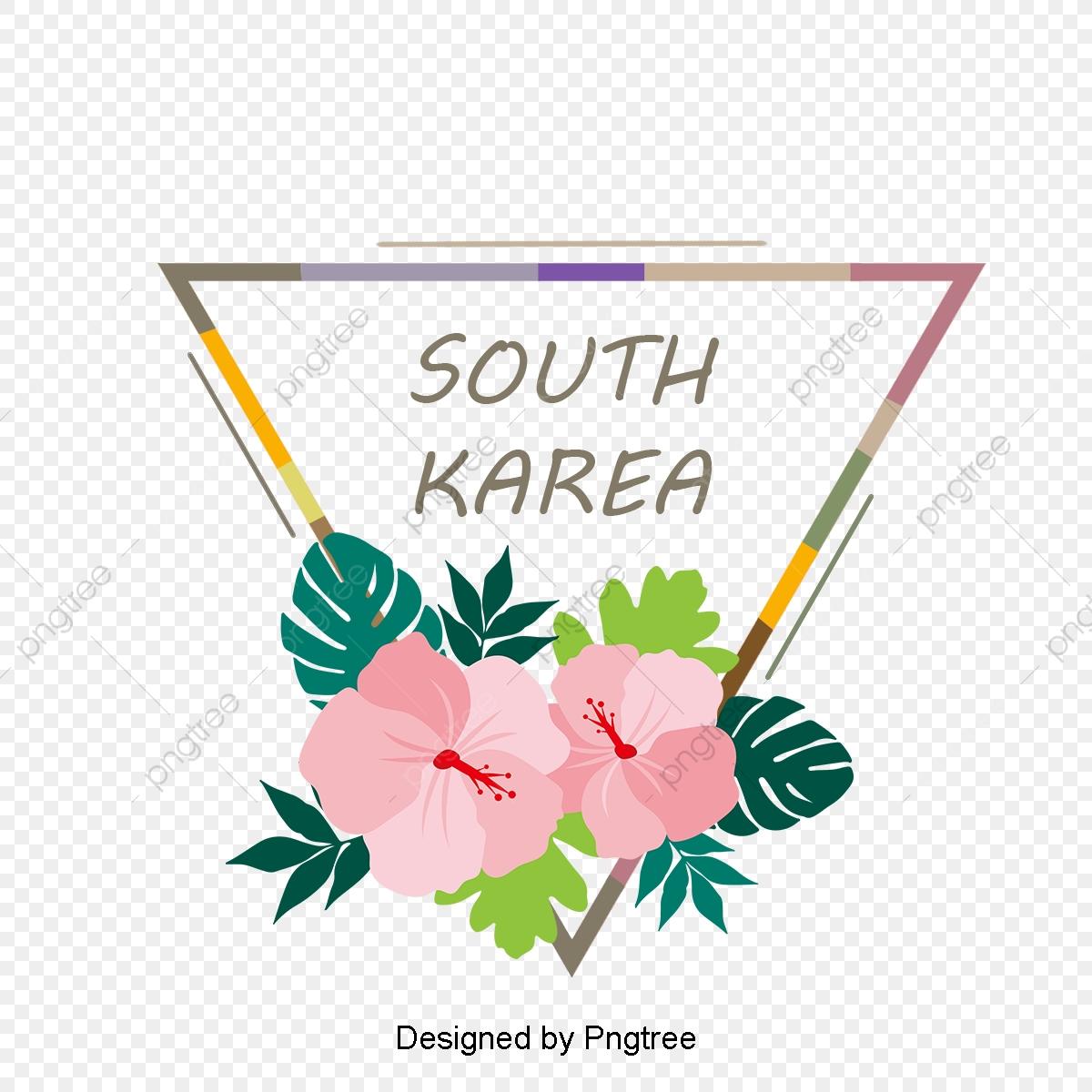 Cartoon Hand Painted Style Korean Hibiscus Flower Element Simple