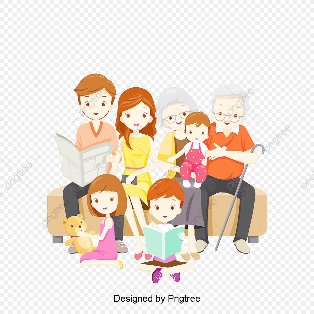 Cartoon Happy Family Design Pattern Cartoon Hand Painted Happiness Png Transparent Clipart Image And Psd File For Free Download