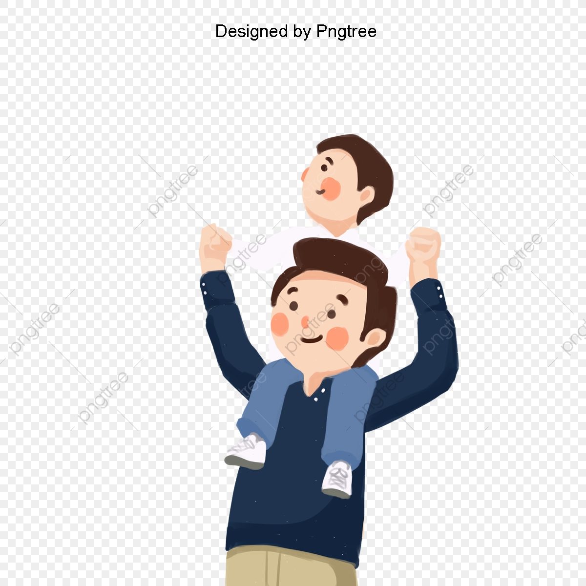 Cartoon Happy Father And Son Elements Father And Son Cartoon Happy Png Transparent Clipart Image And Psd File For Free Download
