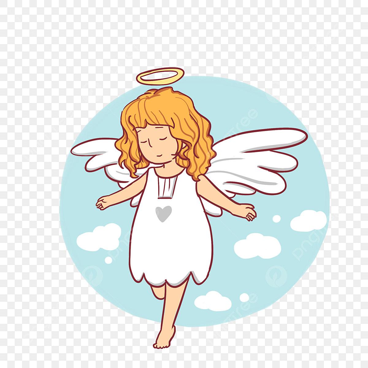 Karikatur Süß Kleiner Engel Angel Cartoon Elf Karikatur