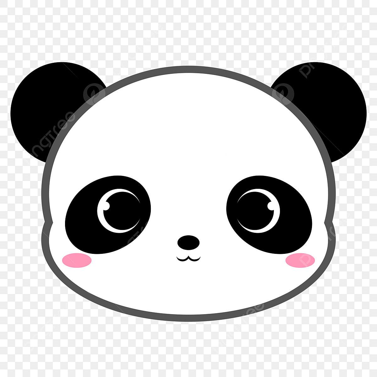 Kartun Beruang Panda Kepala Haiwan Buluh Buluh Beruang
