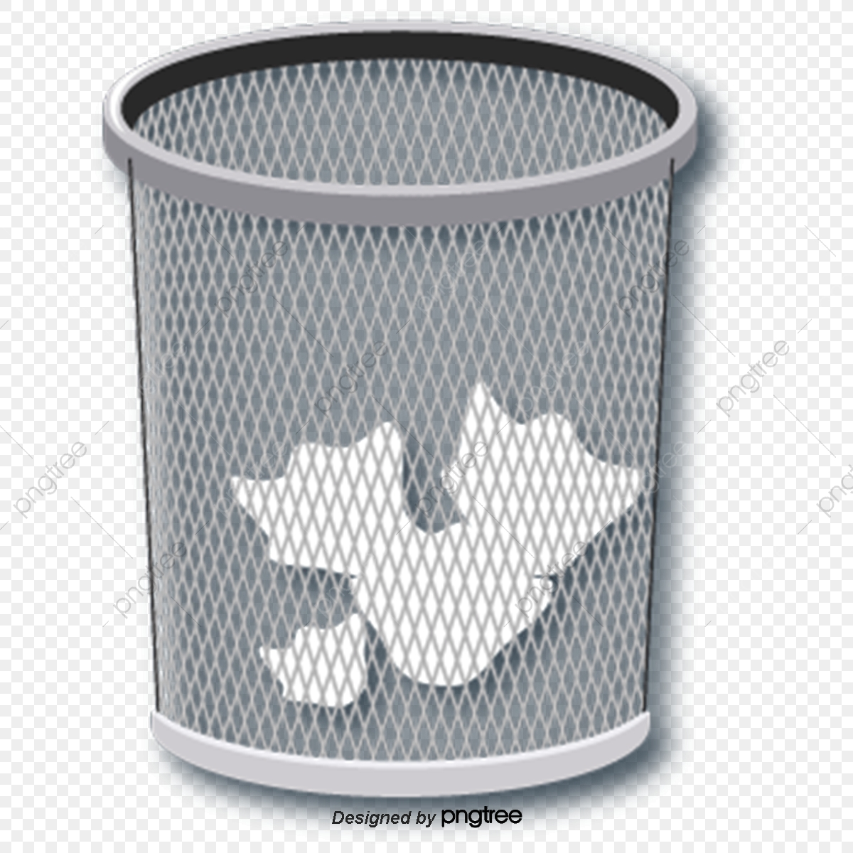 Cartoon Pattern Waste Paper Trash Can, Cartoon Style