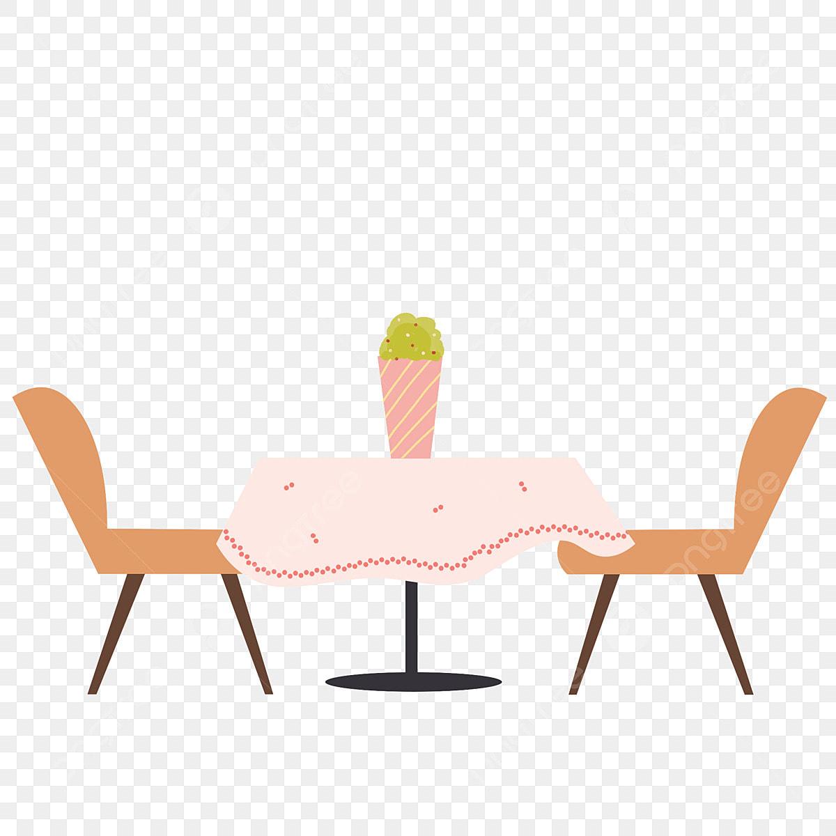 Cartoon Restaurant Table Element Design Cartoon Dining