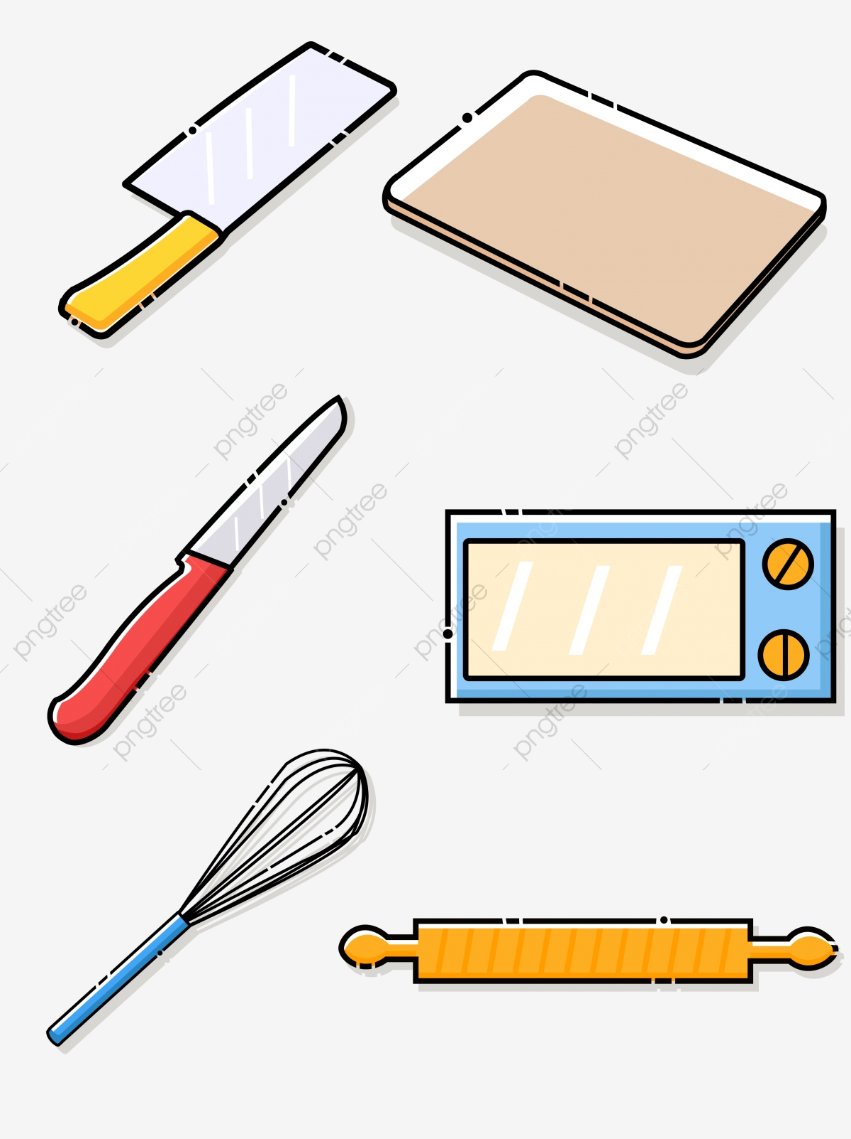 Cartoon Simple Cute Kitchen Supplies, Kitchen Supplies ...