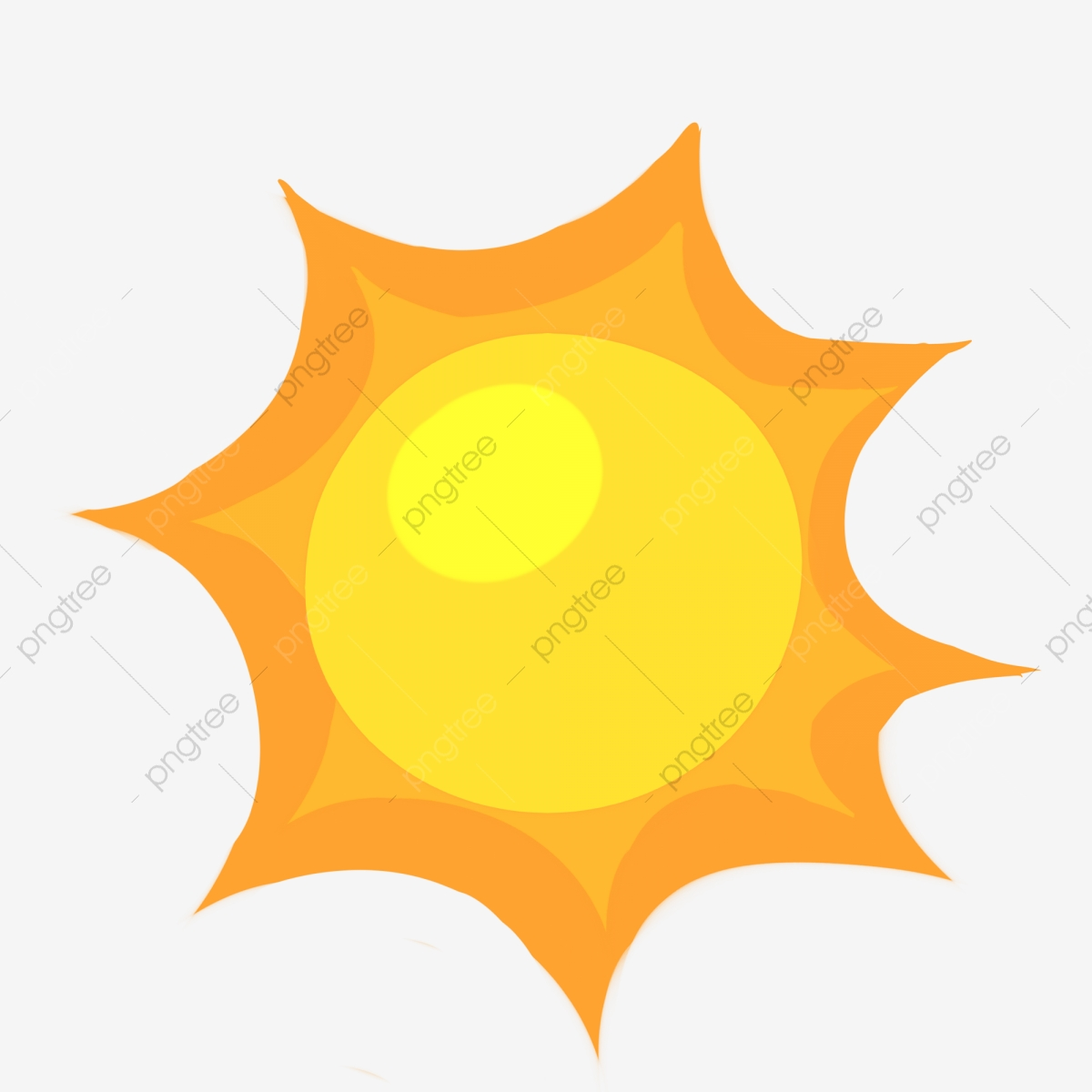 Ilustrasi Matahari Musim Panas Kartun Kartun Musim Panas