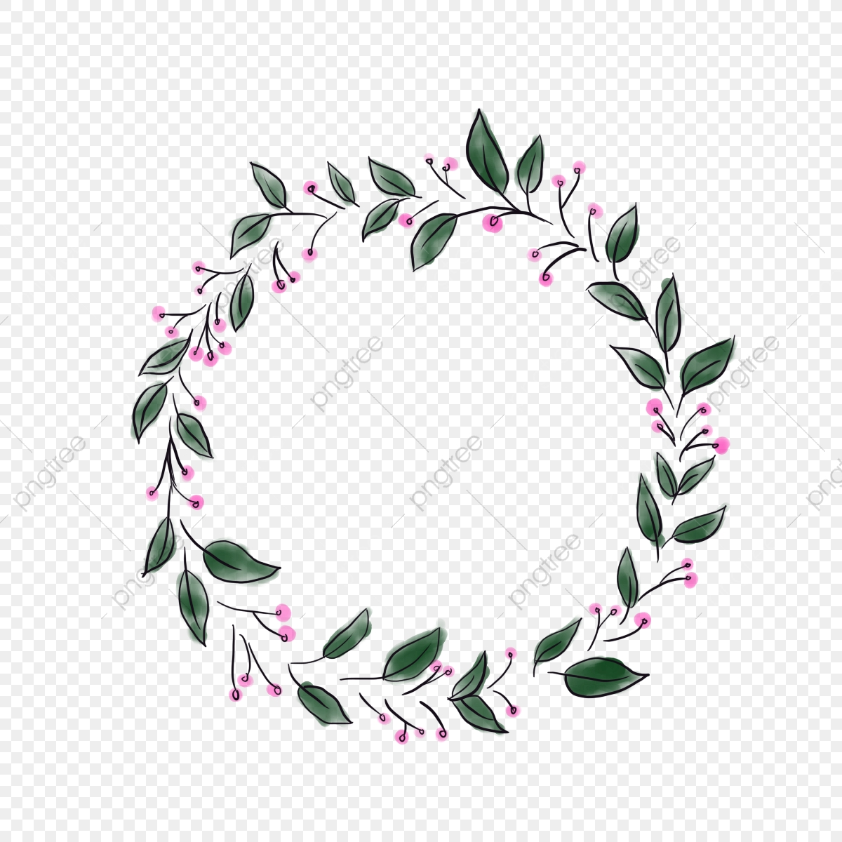 Circle Border Circle Border Plant Png Transparent Clipart Image And Psd File For Free Download