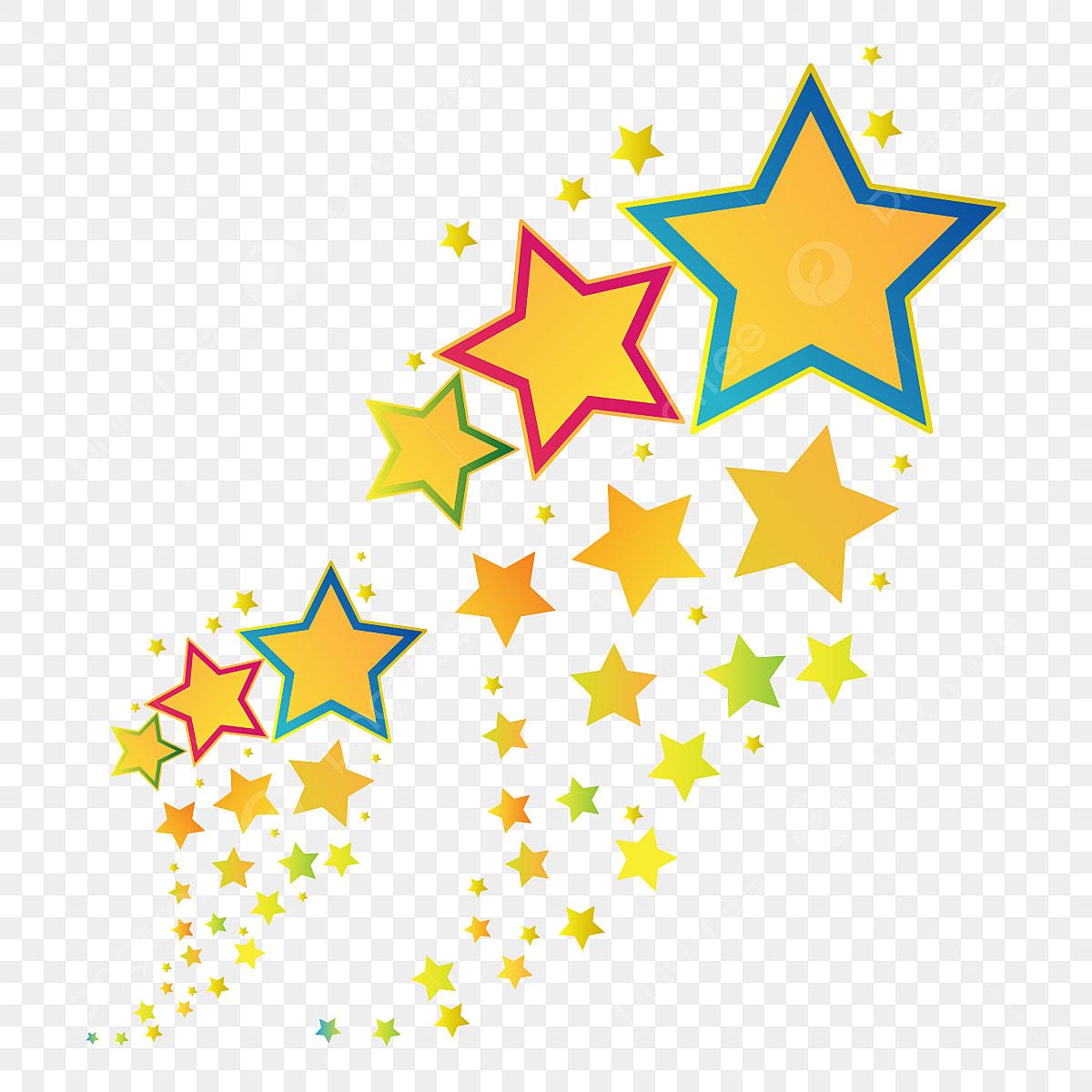 Colorful Celebration Star Banner, Star, Stars, Banner PNG ...