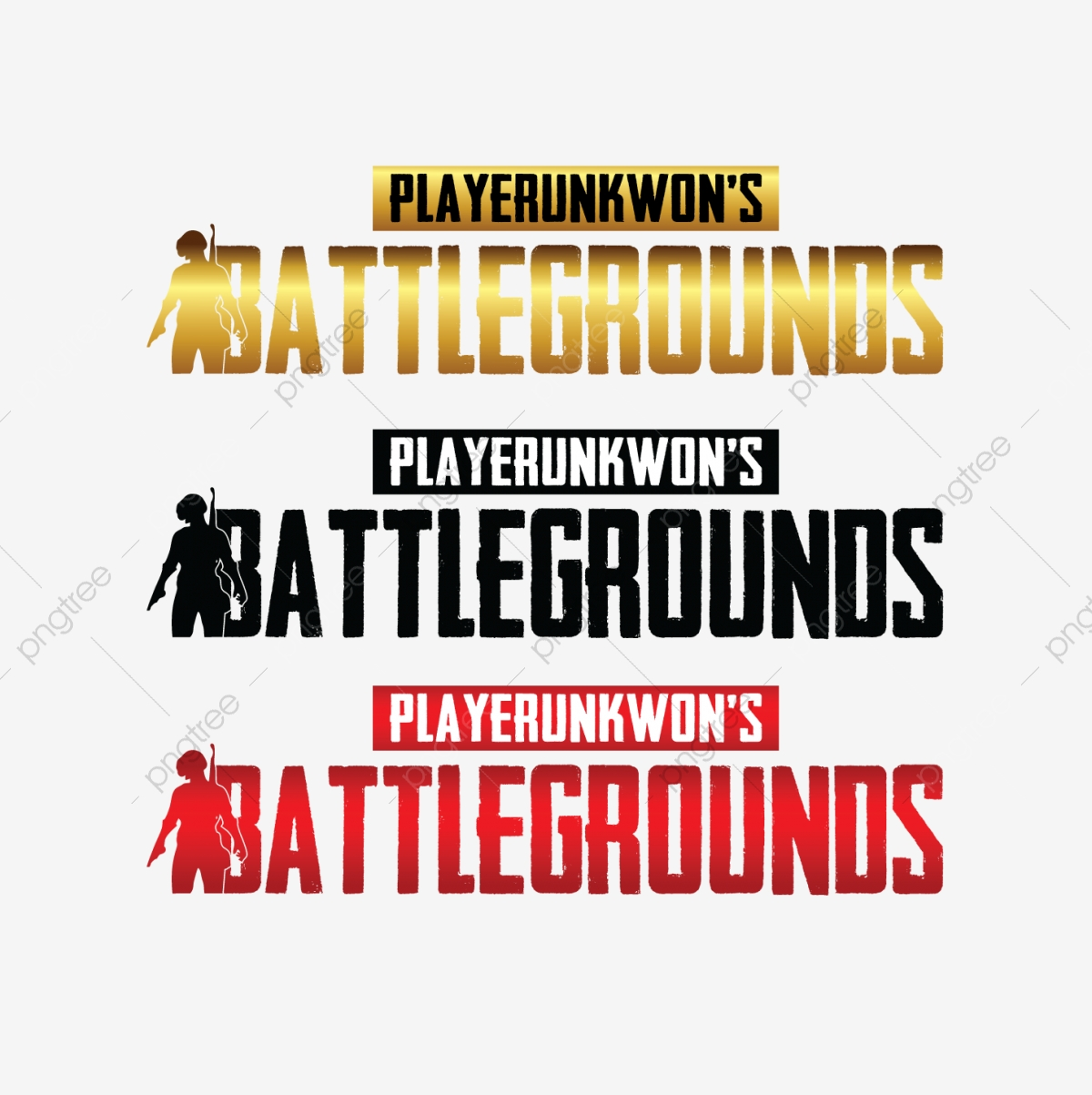 Colours Set Pubg Logo, Gold Pubg, 3d Pubg, Pubg Png PNG and