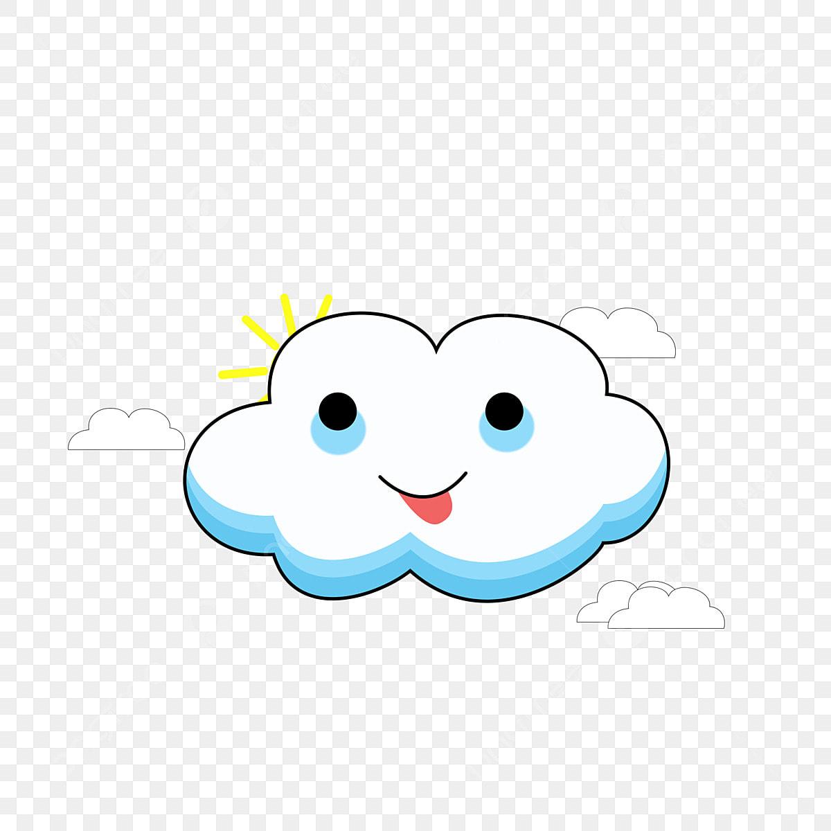 Commercial Cute Smiley Cartoon White Cloud Cartoon White Clouds