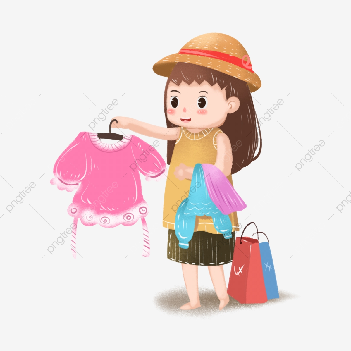 Crazy Shopping To Choose Clothes Can Be Commercial Elements 1111