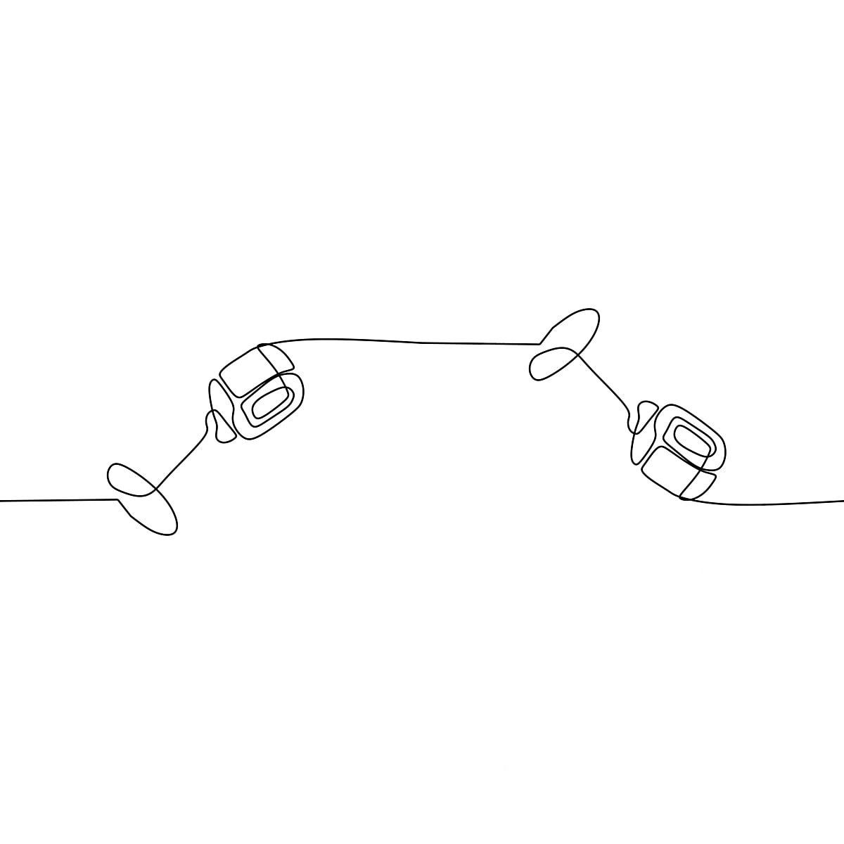 Cute Micrófono Continua Una Linea De Silueta Clipart Dibujado A Mano