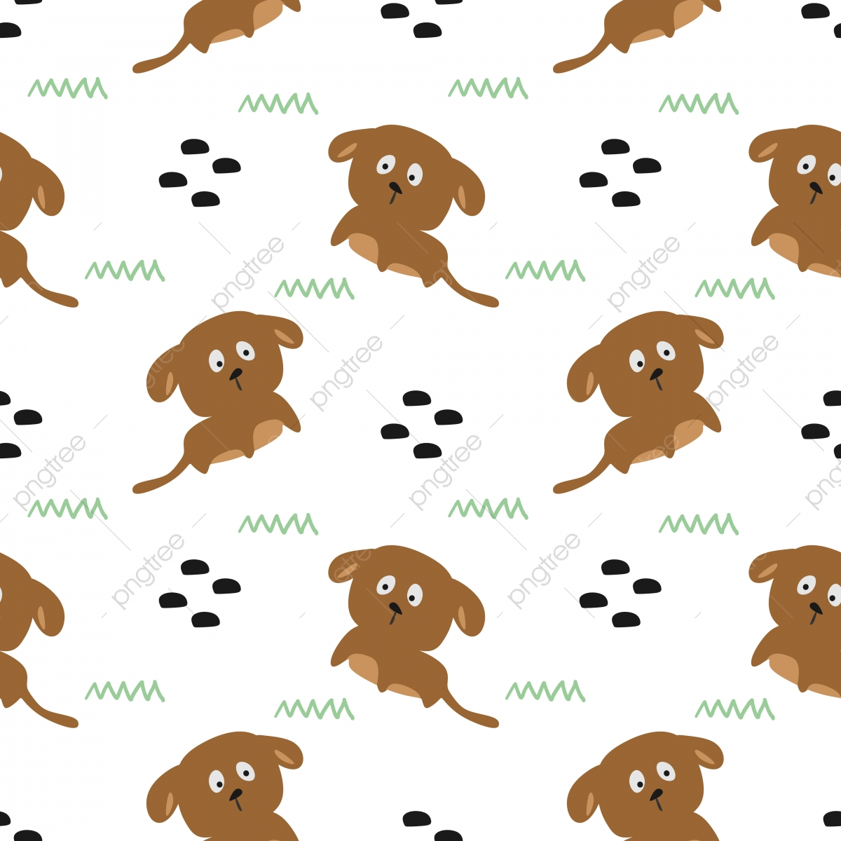 Cute Puppy Seamless Pattern Vector For Baby Textile Wallpaper Background Pattern Baby Png And Vector With Transparent Background For Free Download