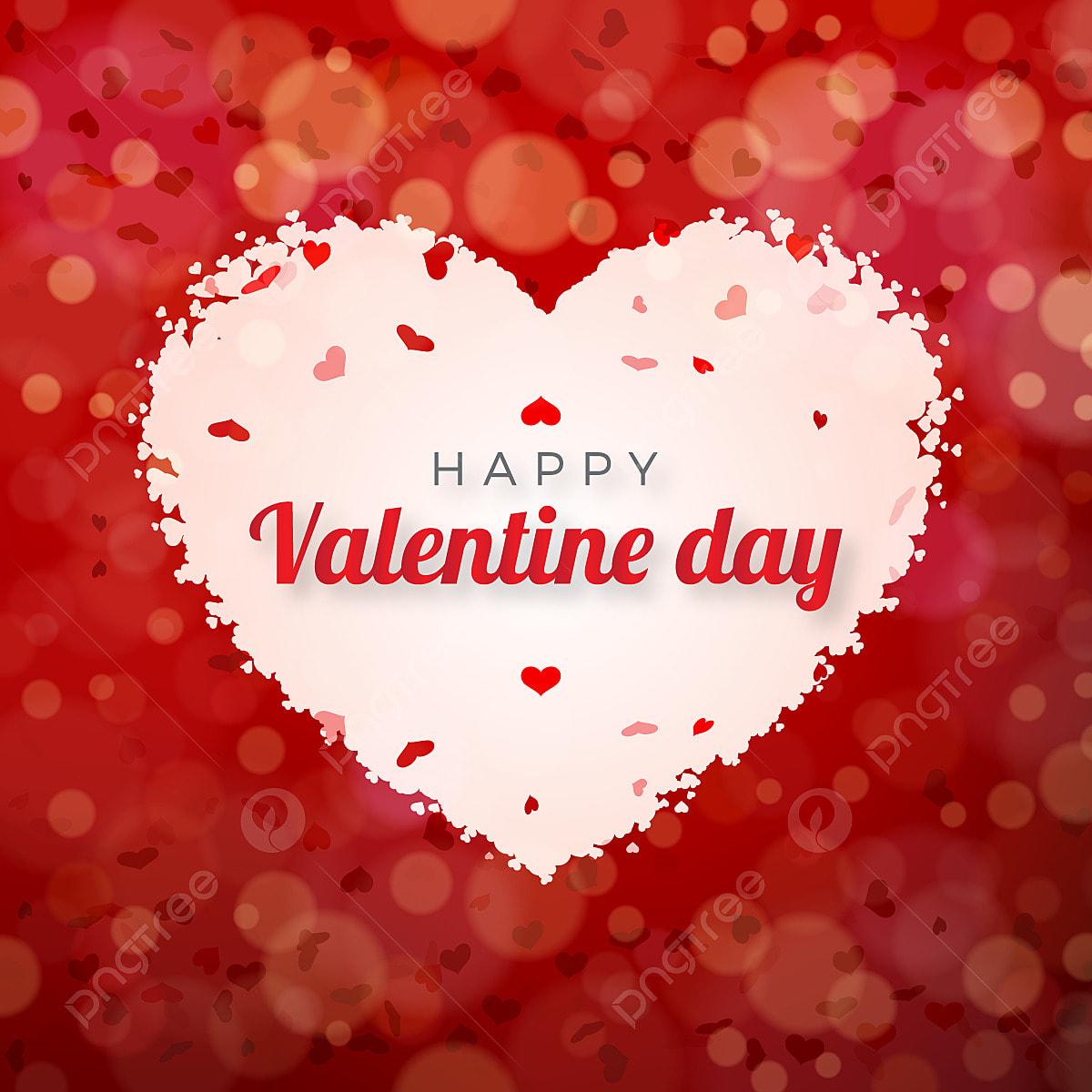 Hearts Bokeh Vector Background Download Free Vector Art