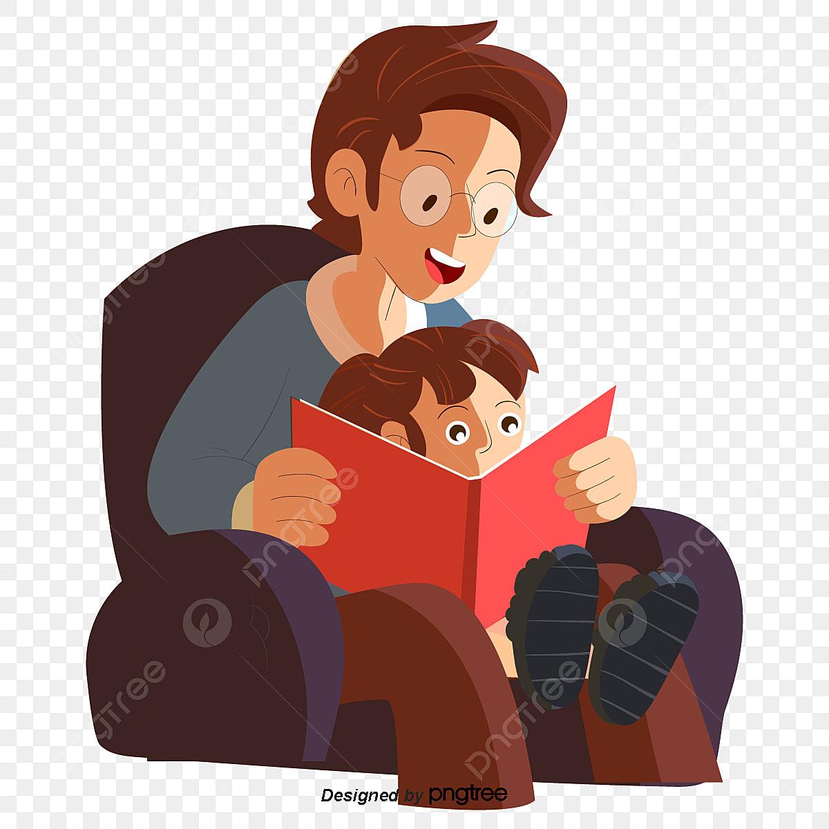Gambar Ayah Membaca Bersama Anak Perempuannya Watak Anak Perempuan Gadis Png Dan Vektor Untuk Muat Turun Percuma