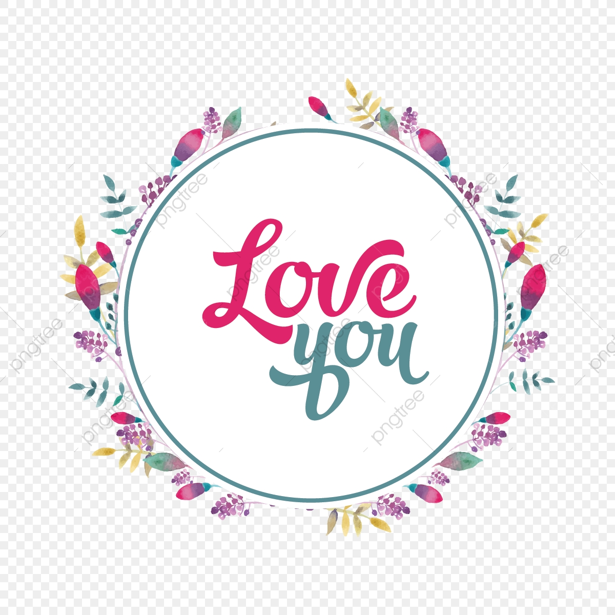 decorative flowers wreath love you quotes flowers decoration