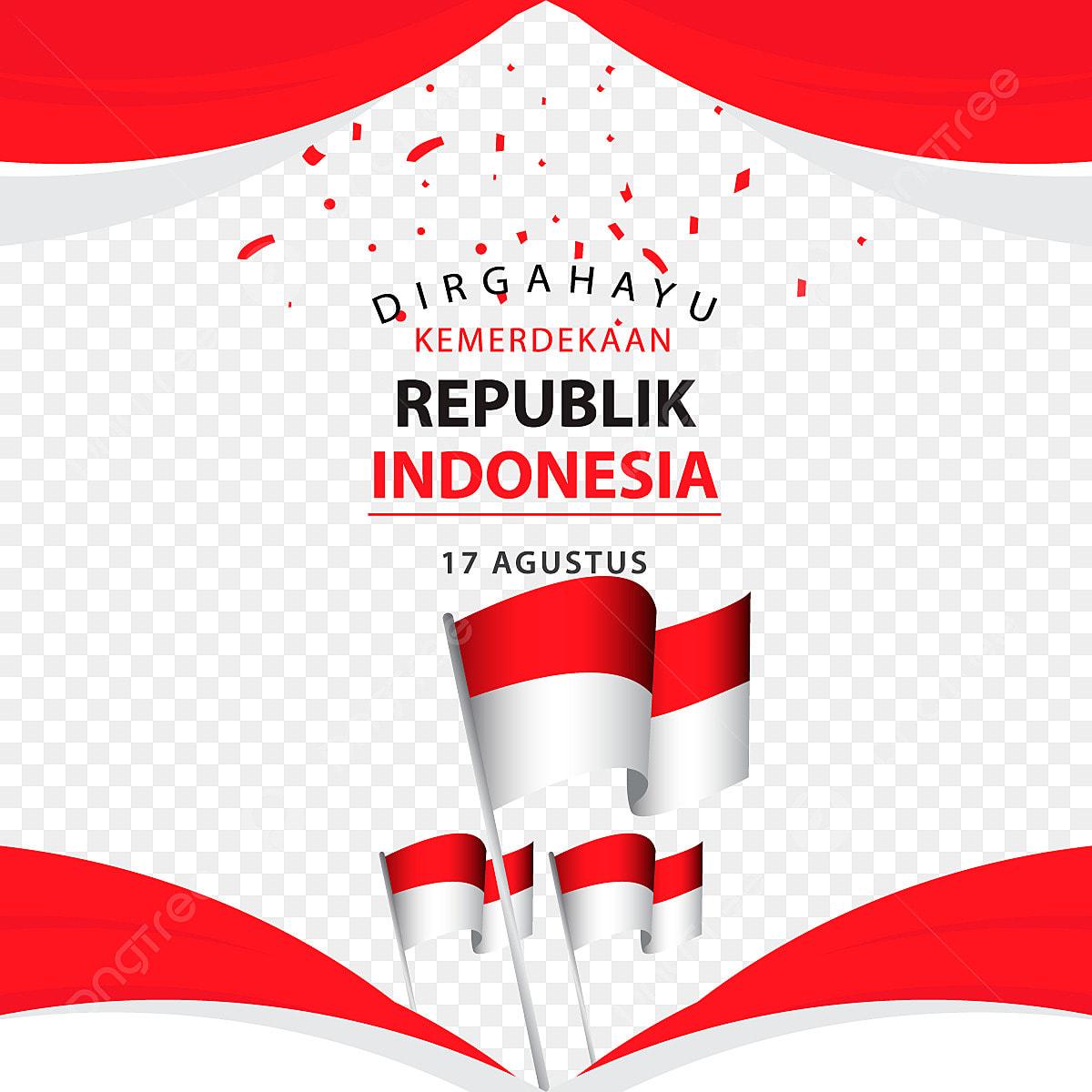 pngtree dirgahayu kemerdekaan republik indonesia poster vector template design illustration png image 4201677