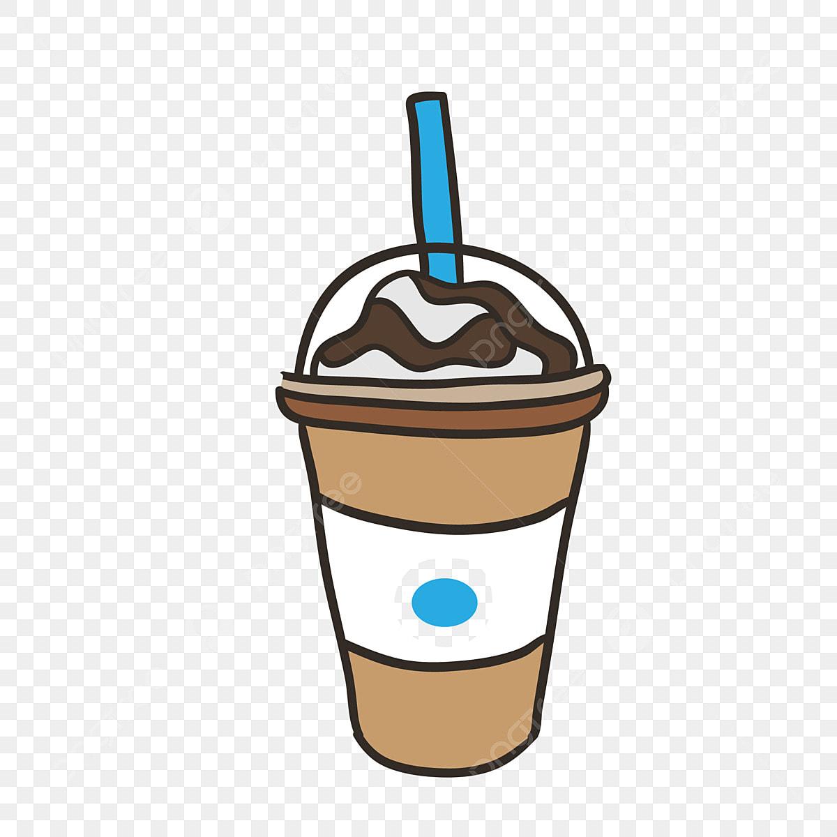 飲み物 ミルクティー ファーストフード 手描き イラスト ボード塗装