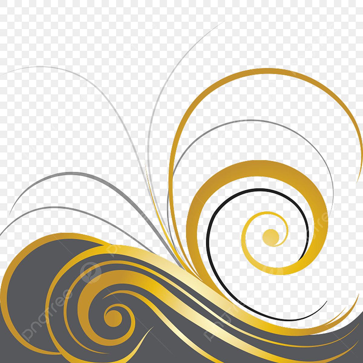 Elegant Swirl Designs Clip Art