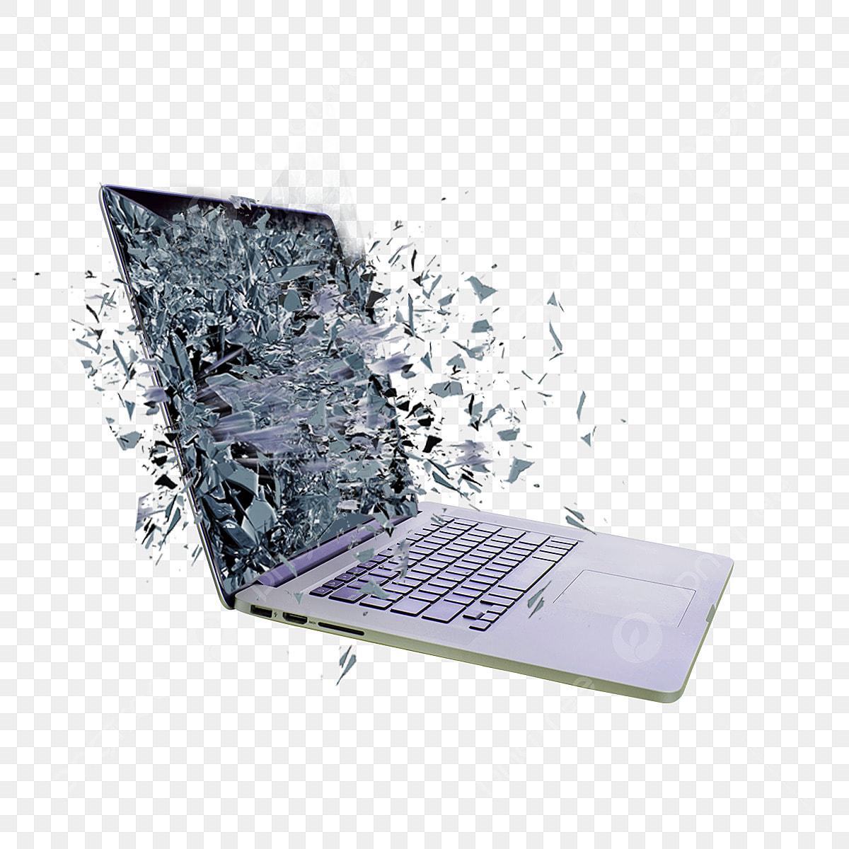 Komputer Riba Meletup Png Dan Psd