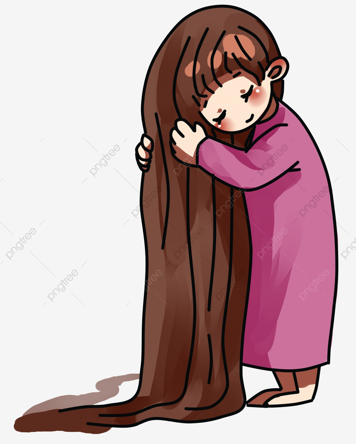 Fairy Tale World Long Hair Princess Lettuce Girl Princess